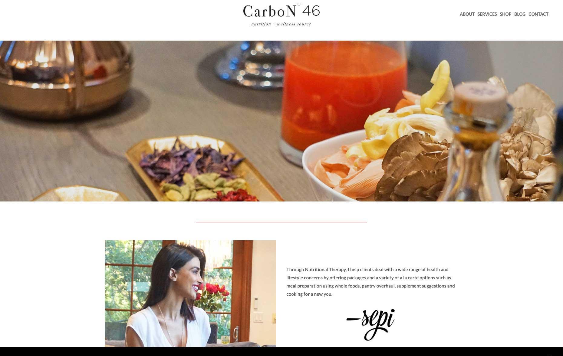 CARBON 46 HEALTH COACH (WORDPRESS):   VISIT THE SITE