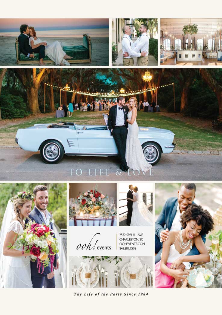 Full page Wedding ad for OOH Events in Charleston, South Carolina