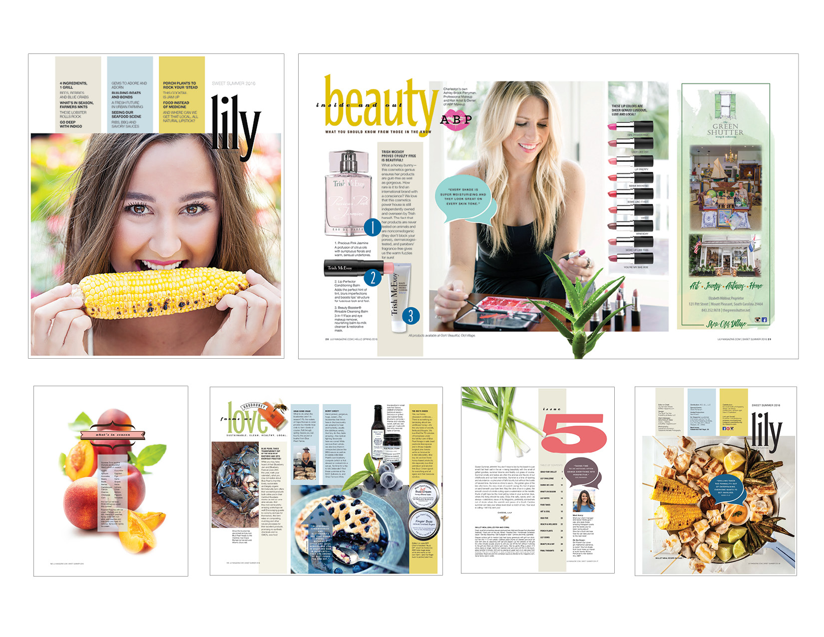 Lily Magazine was a lifestyle magazine in Charleston, SC designed by Caitilin McPhillips.