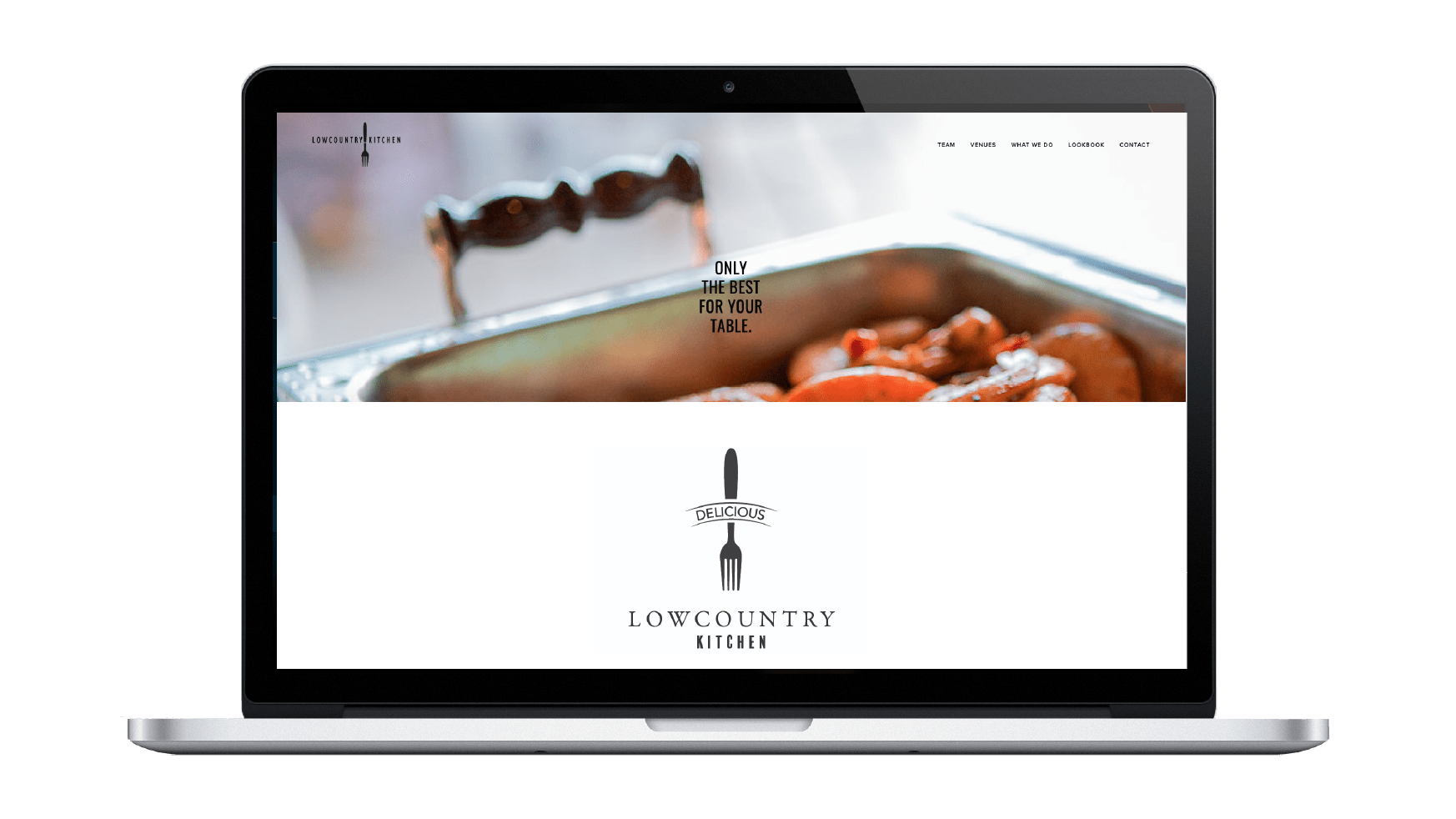 Lowcountry Kitchen Catering and Restaurant Squarespace website by Caitilin McPhillips.