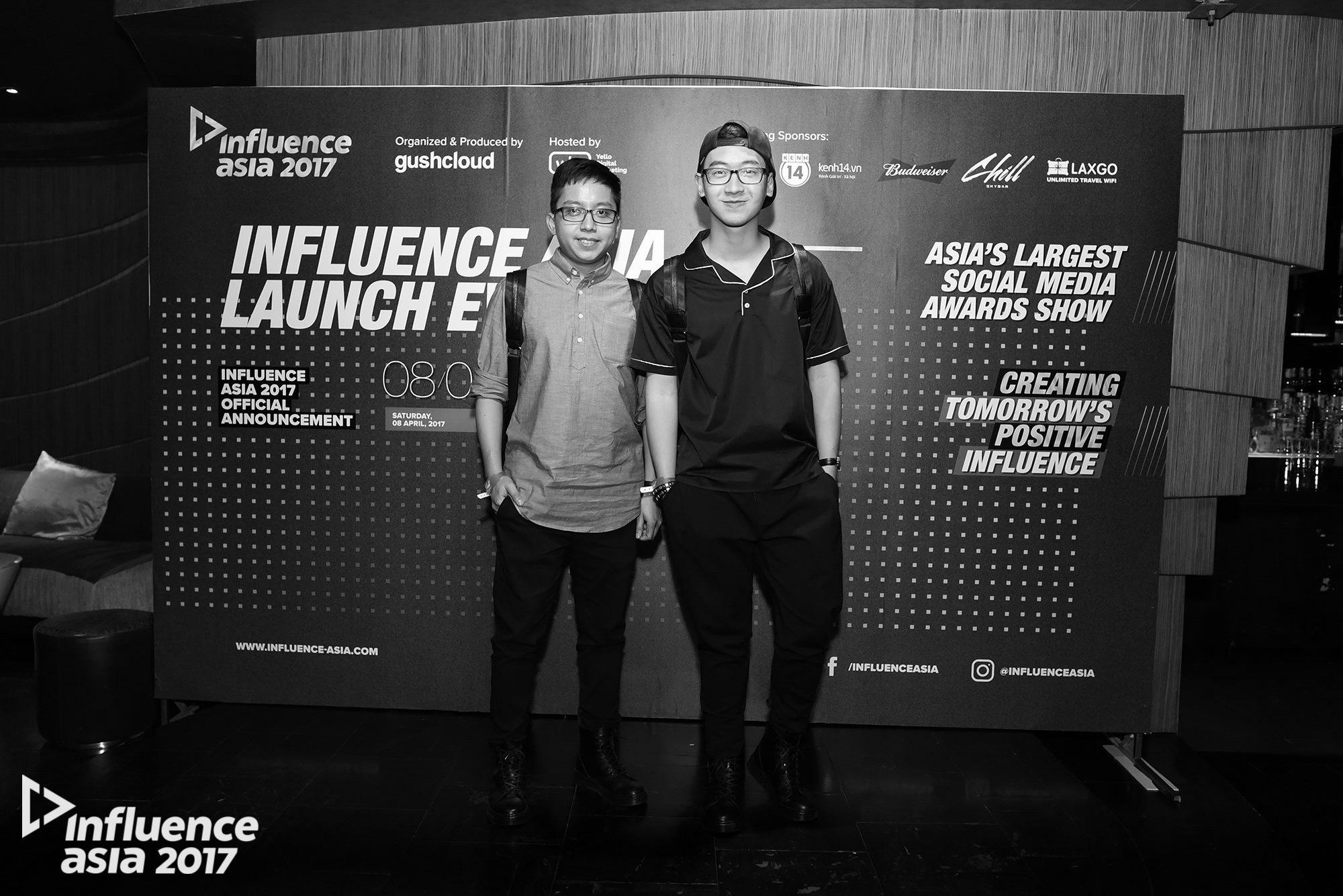 The Pandas' Flavor và Ninh Eating tại sự kiện họp báo giới thiệu Gushcloud Việt Nam và công bố Top 4 đề cử Influence Asia 2017