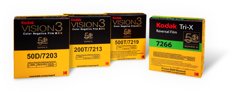 Super 8 film stock from Kodak.