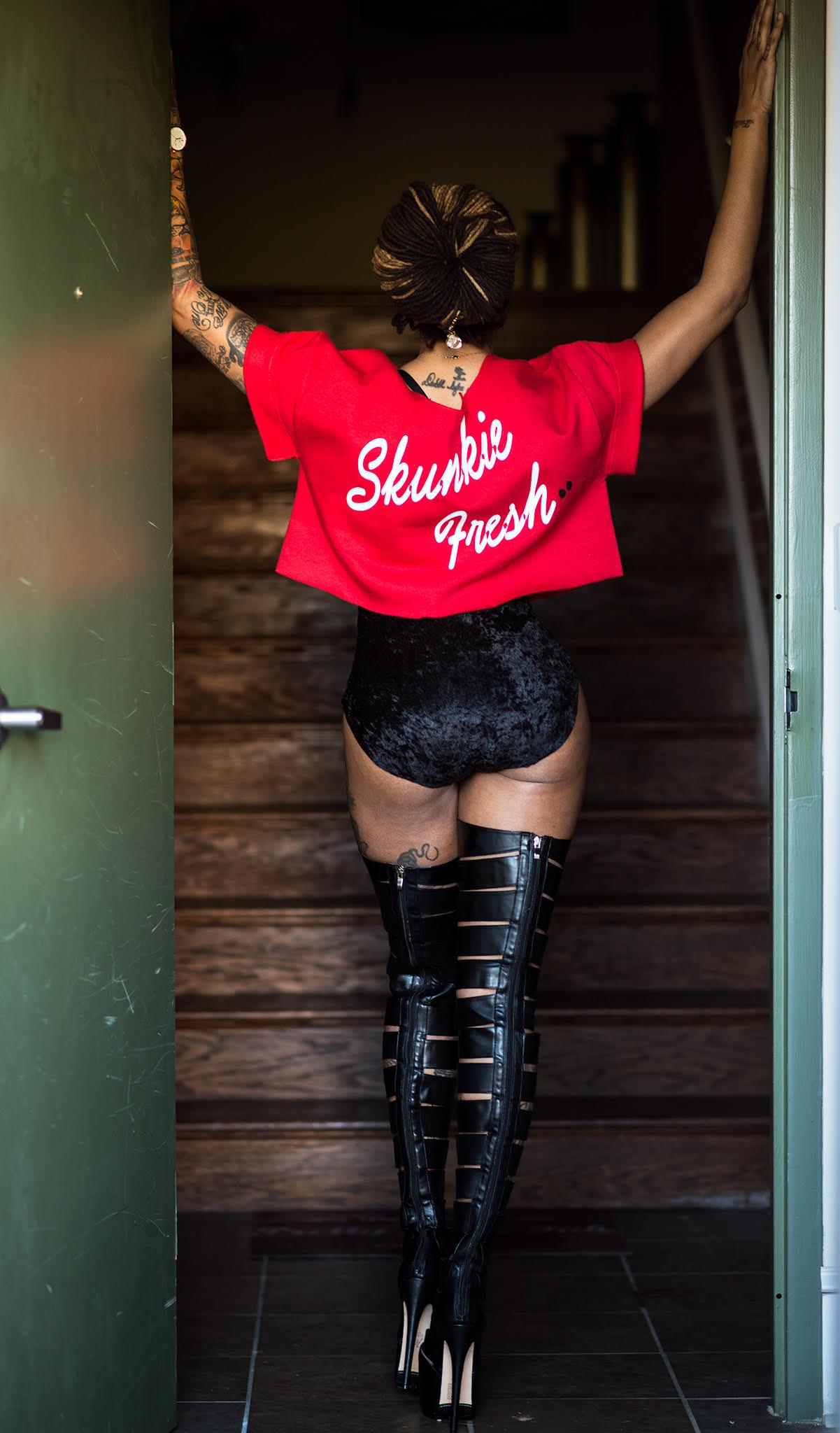 Dutchess Lattimore wearing Uno Fresh, VonRay Designs, Hendrick Brun & DonPiece Watch (B.E.T.)