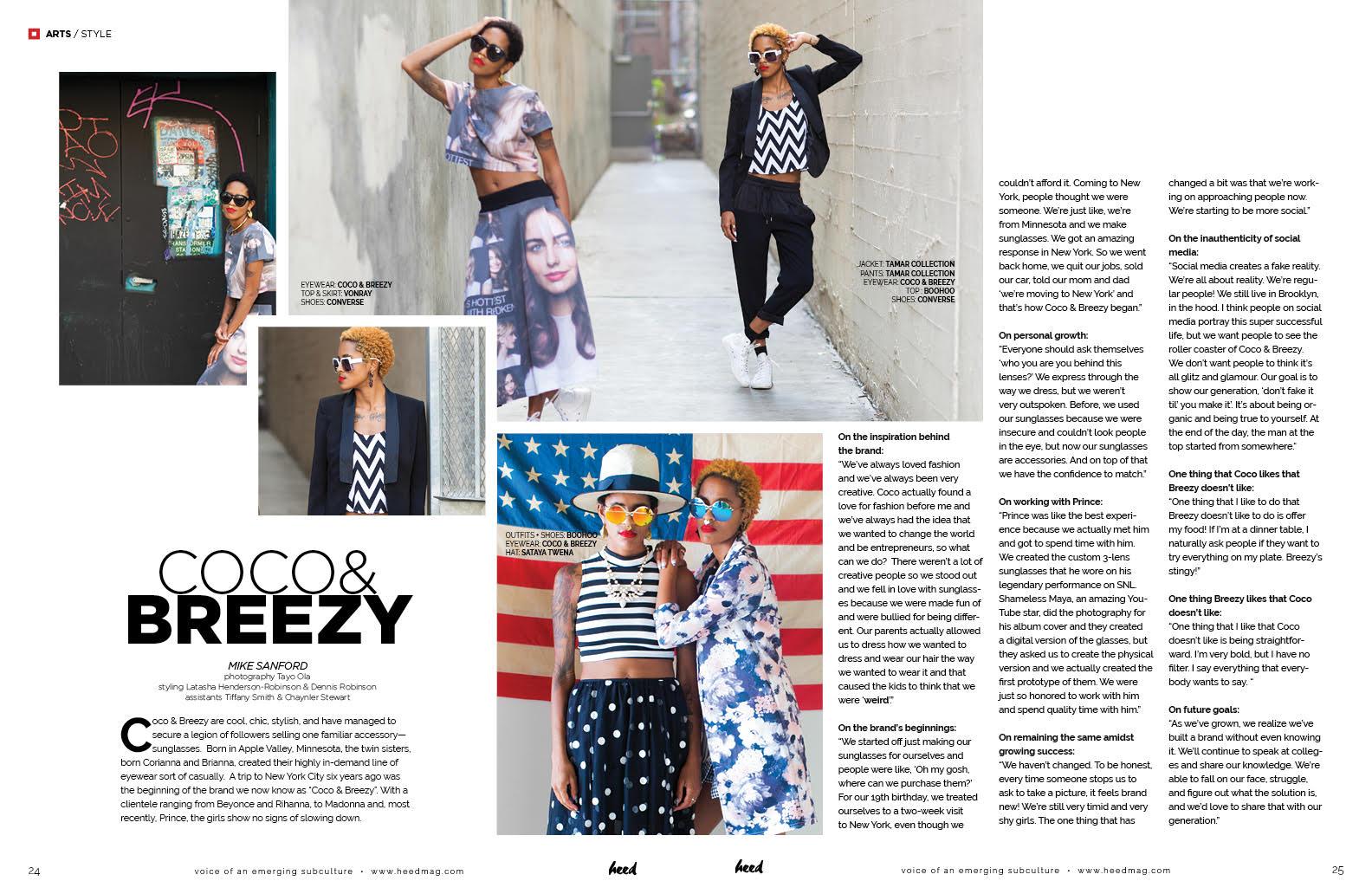 Coco & Breezy wearing VonRay, Boohoo, Tamar Braxton