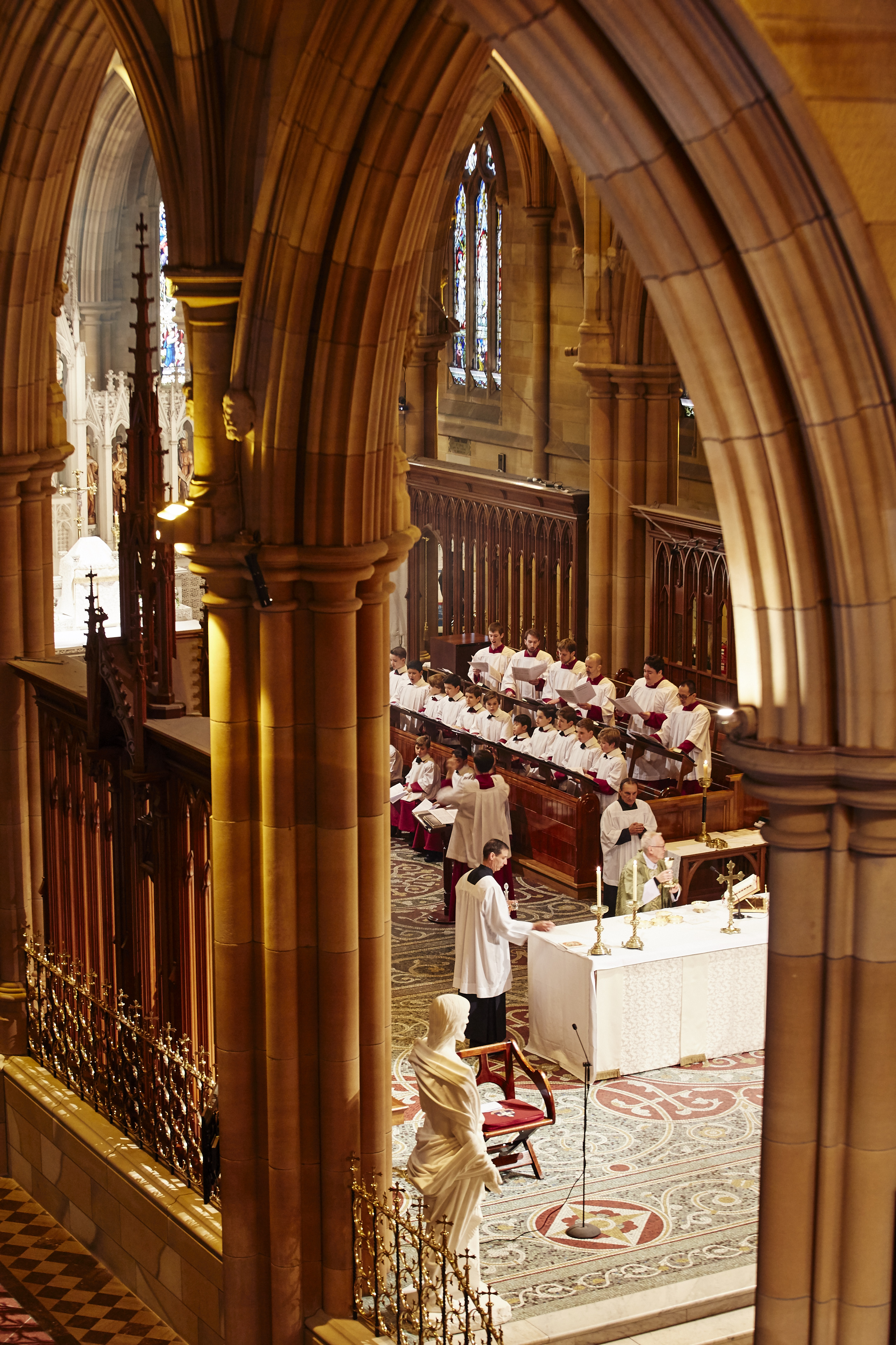 Saint Mary's Cathedral Choir sings at Sunday Mass in Sydney
