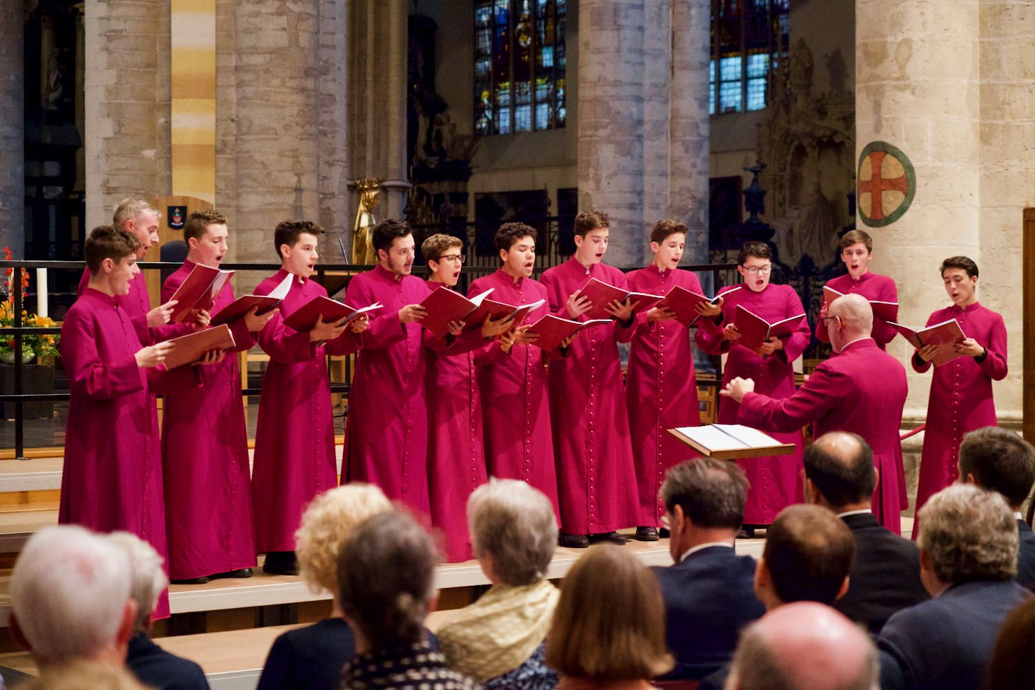 The Scholars sing in Brussels Cathedral.