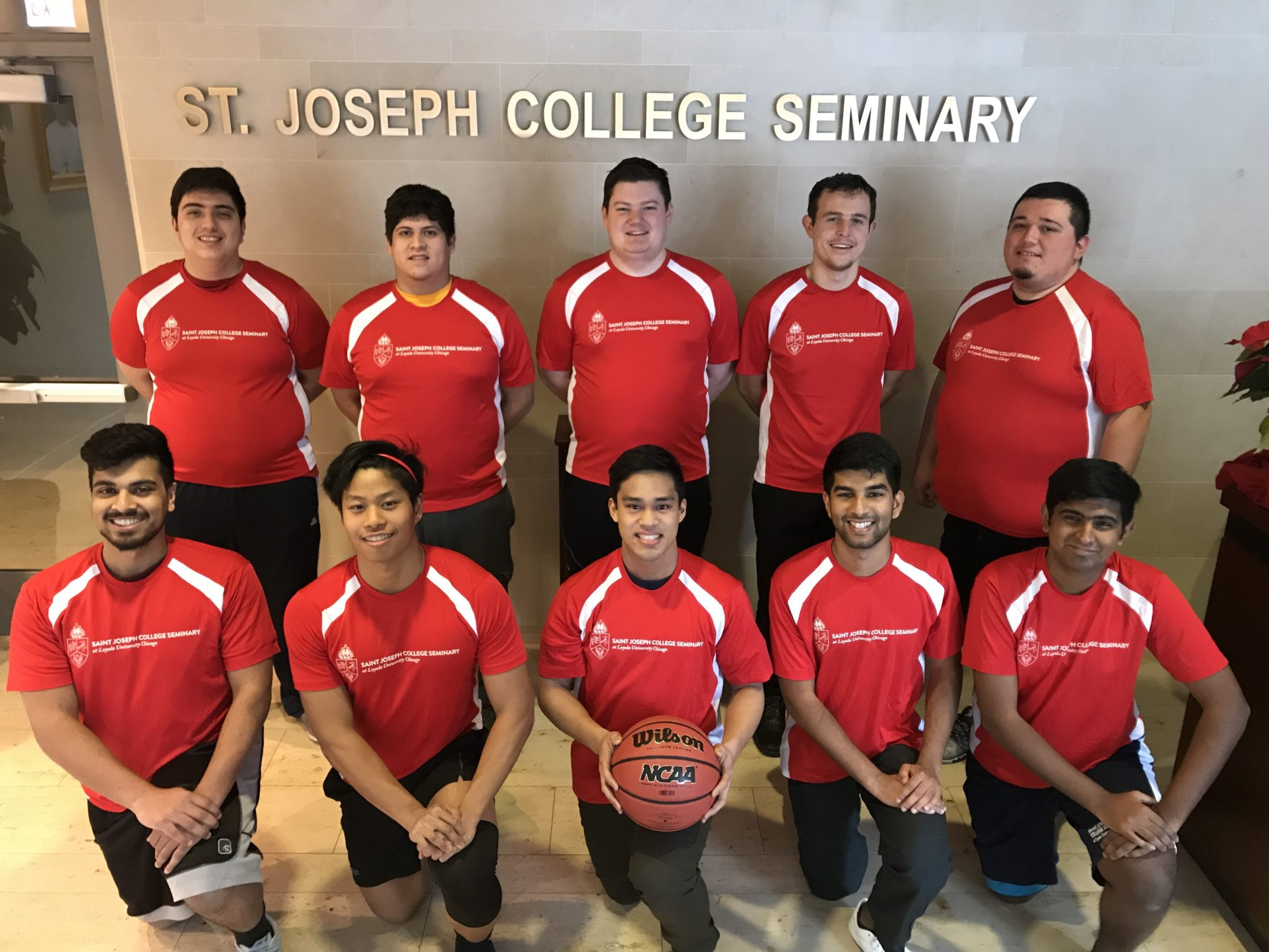 Pictured above: the St. Joseph College Seminary basketball team