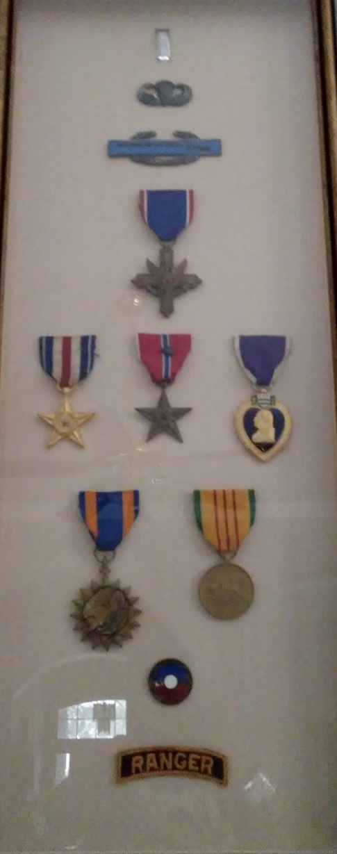 These are the medals Pops was awarded during his time in the US Army.