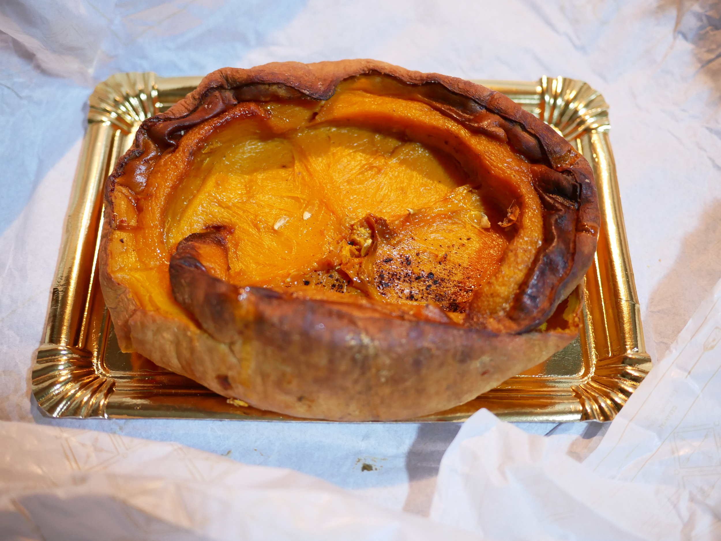 Roasted pumpkin from the bakery