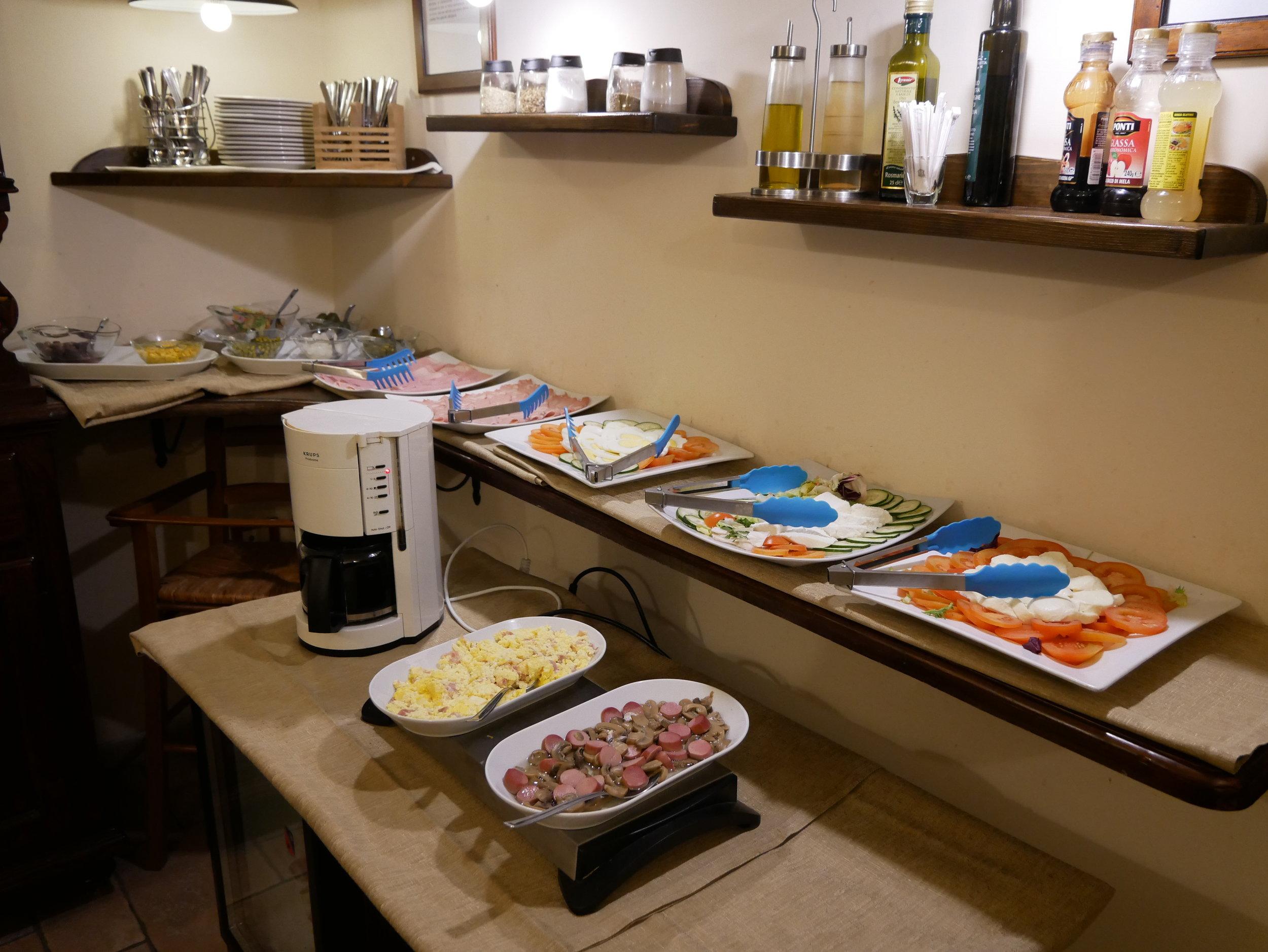 Il Convento Hotel Naples breakfast savory.jpg