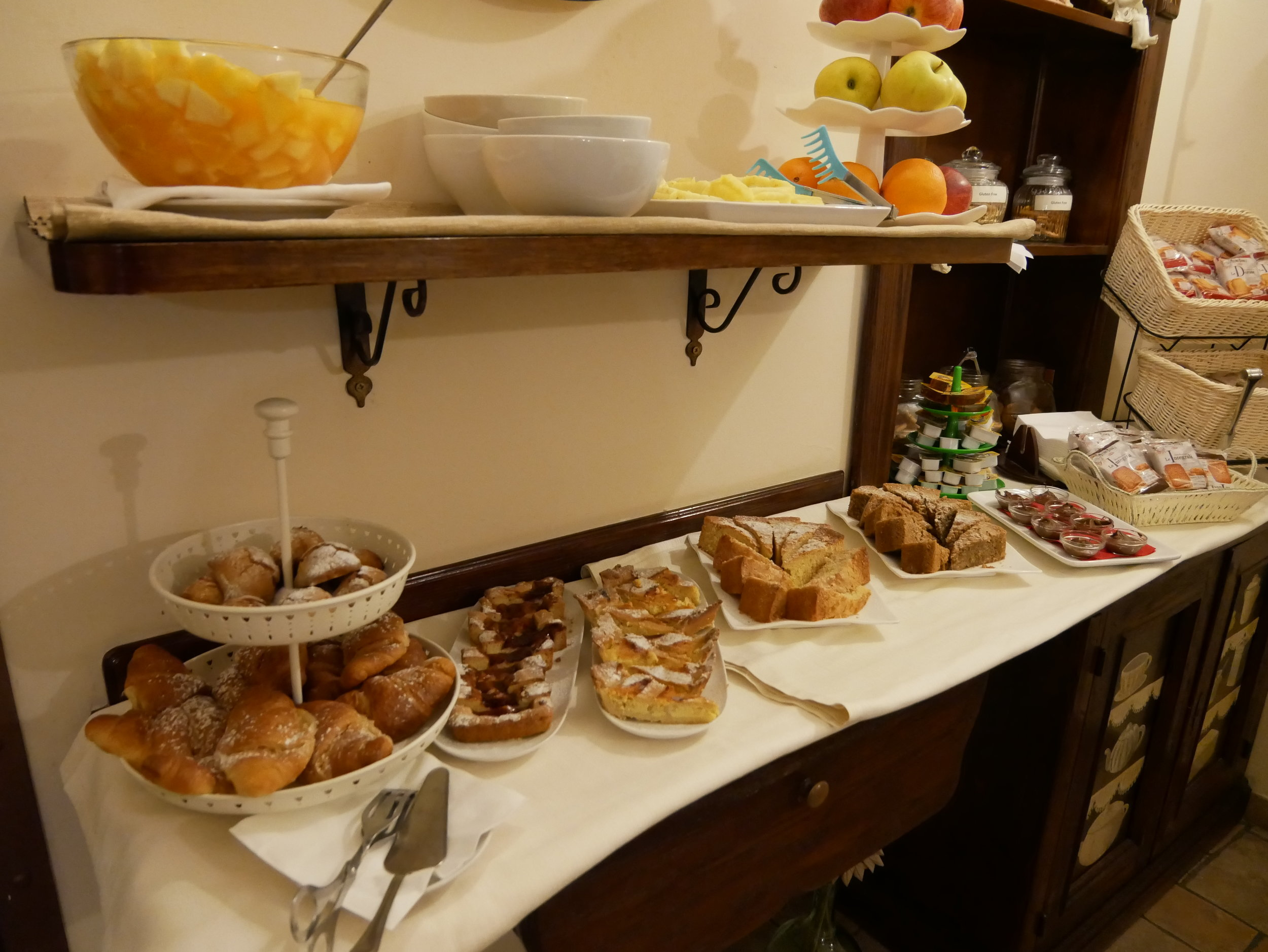 Il Convento Hotel Naples breakfast pastries.jpg