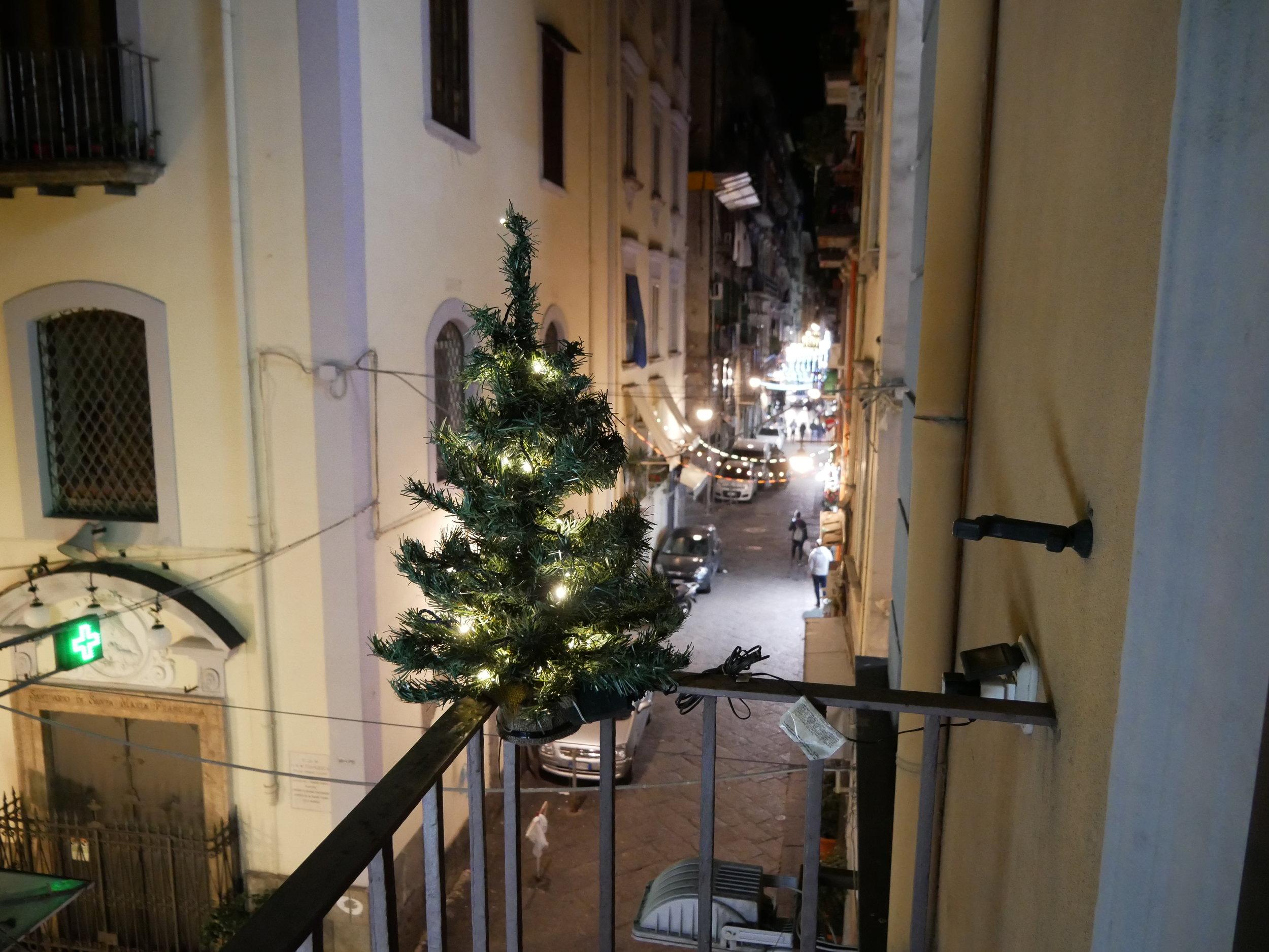 Il Convento Hotel Naples Balcony Christmas Tree.jpg