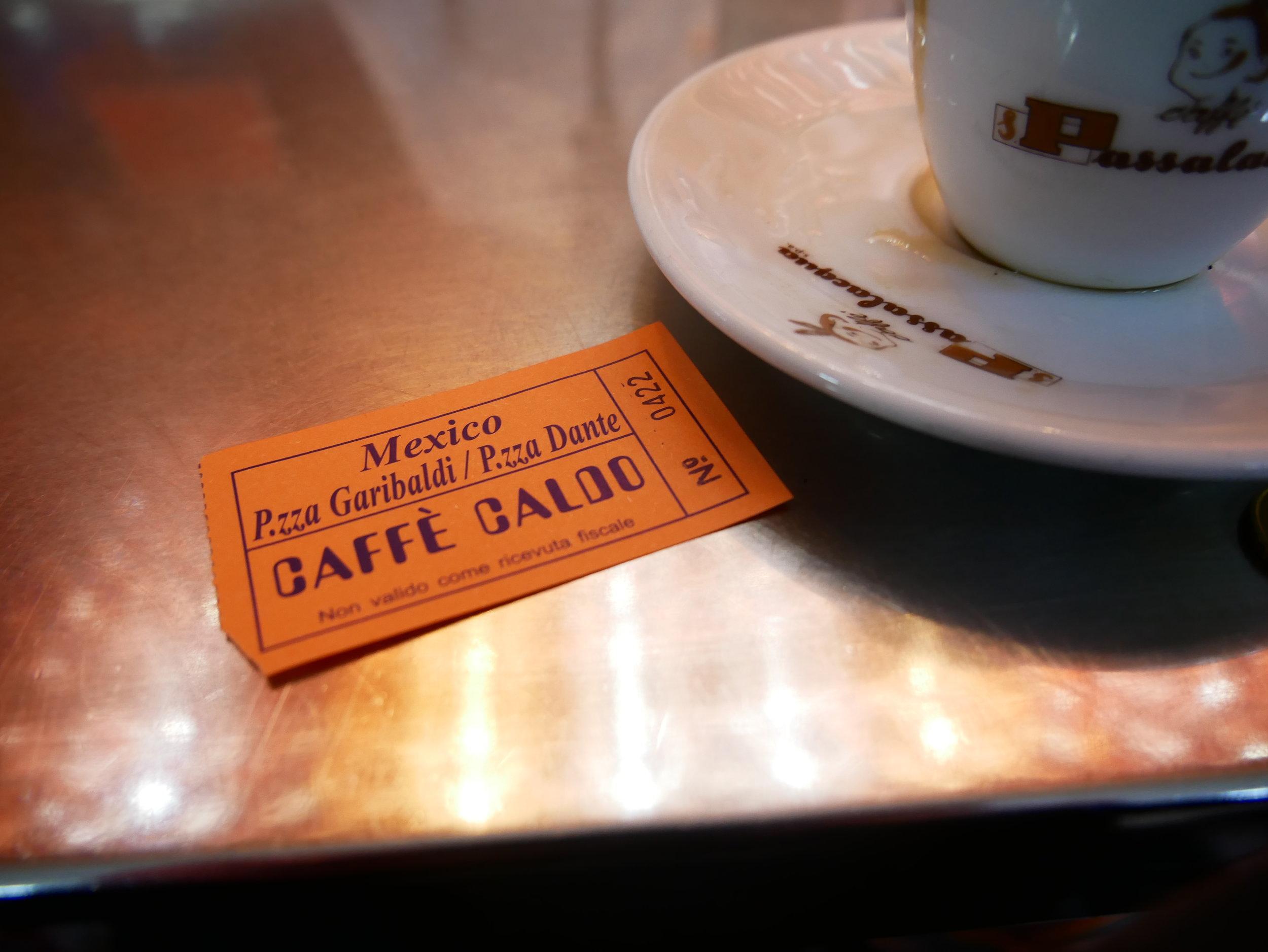 Caffe Mexico Naples ticket