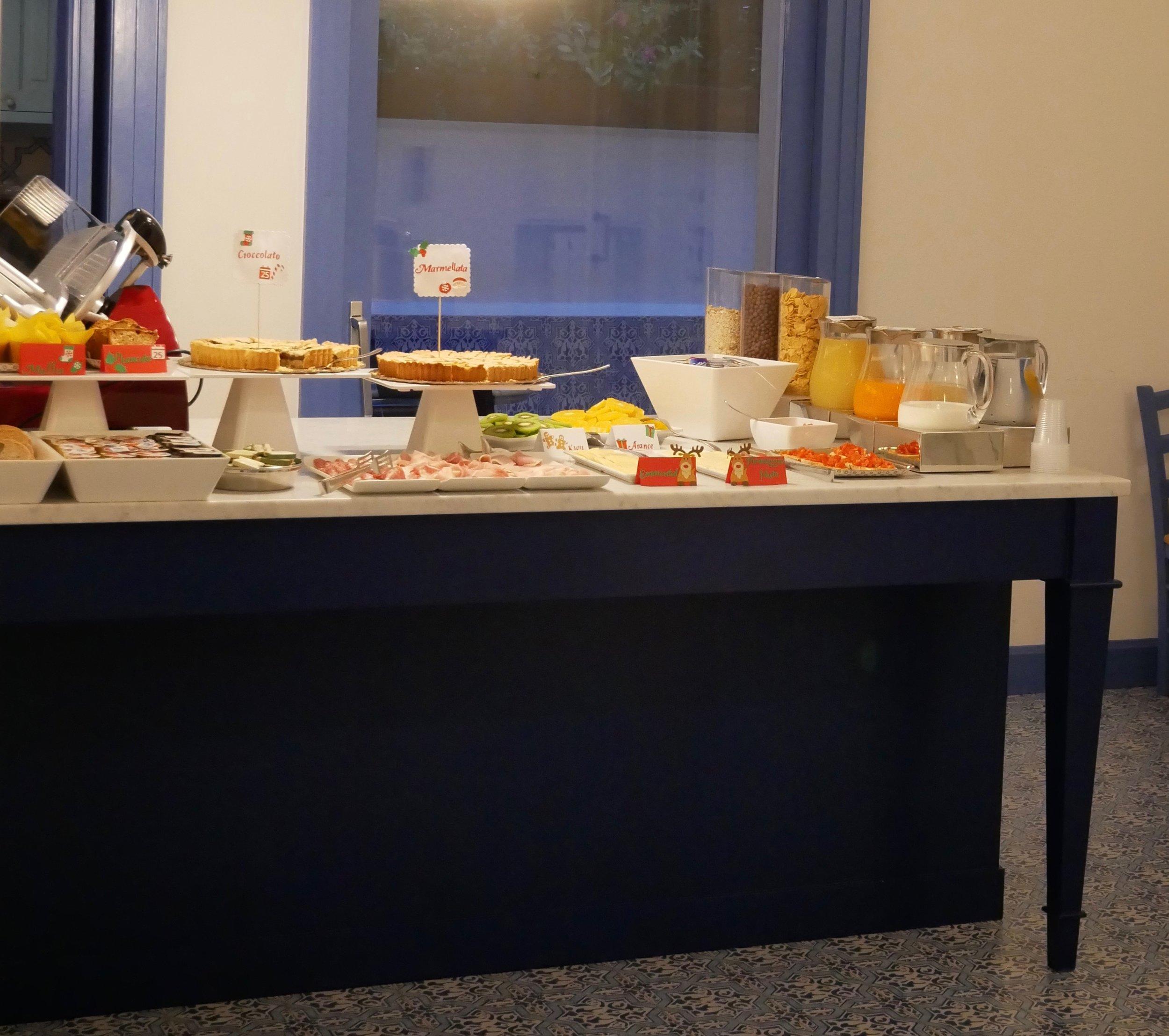 Hotel Mignon Sorrento breakfast buffet.jpg