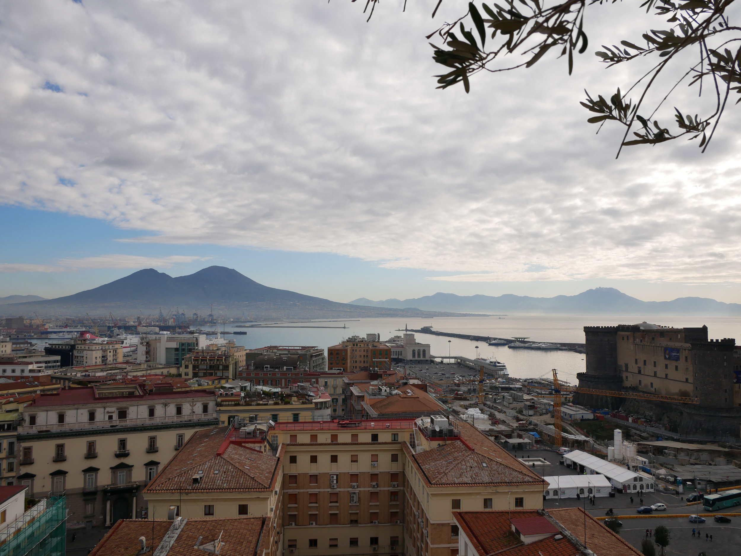 Renaissance Naples view of Vesuvius