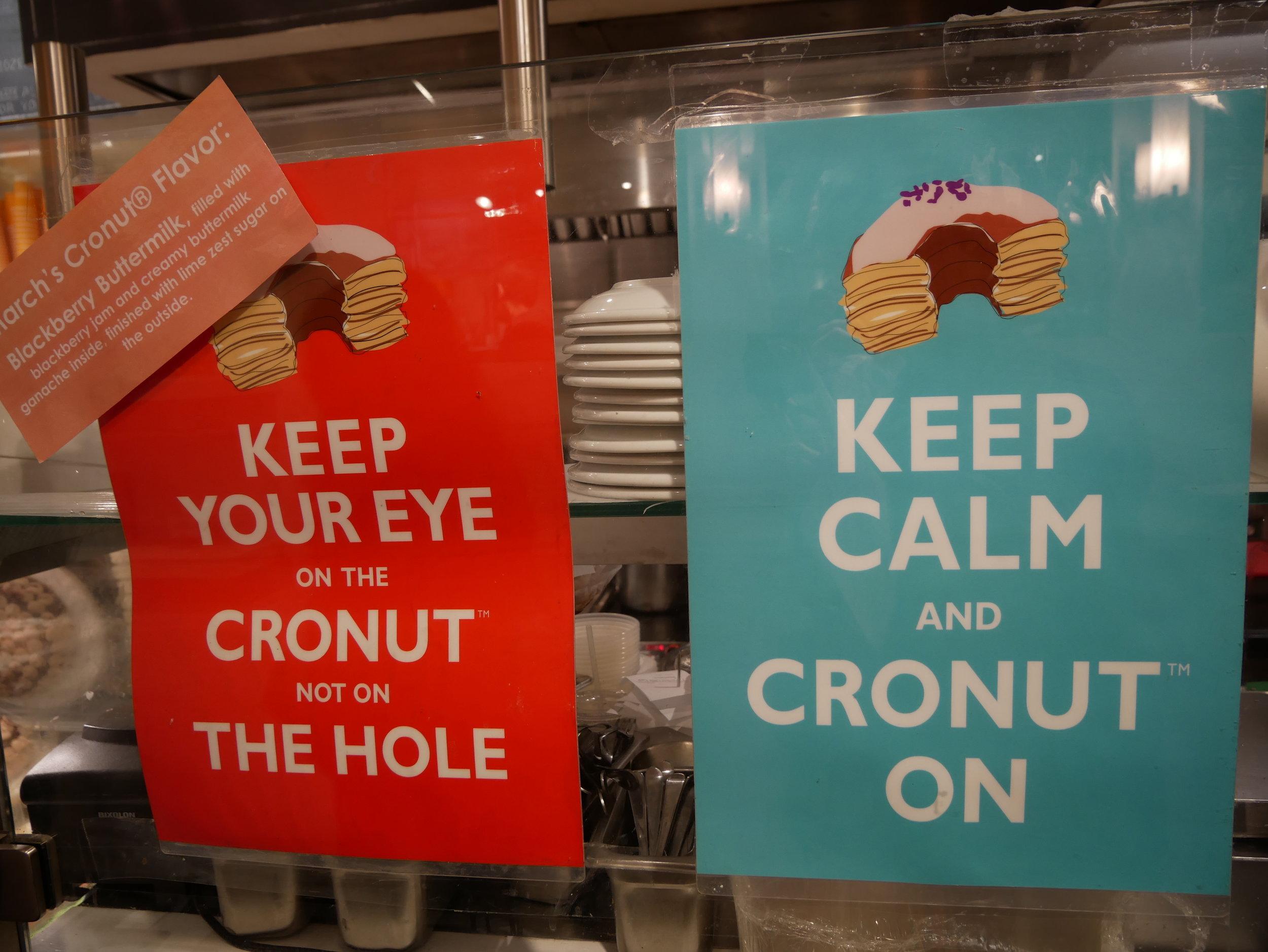 Cronut signs
