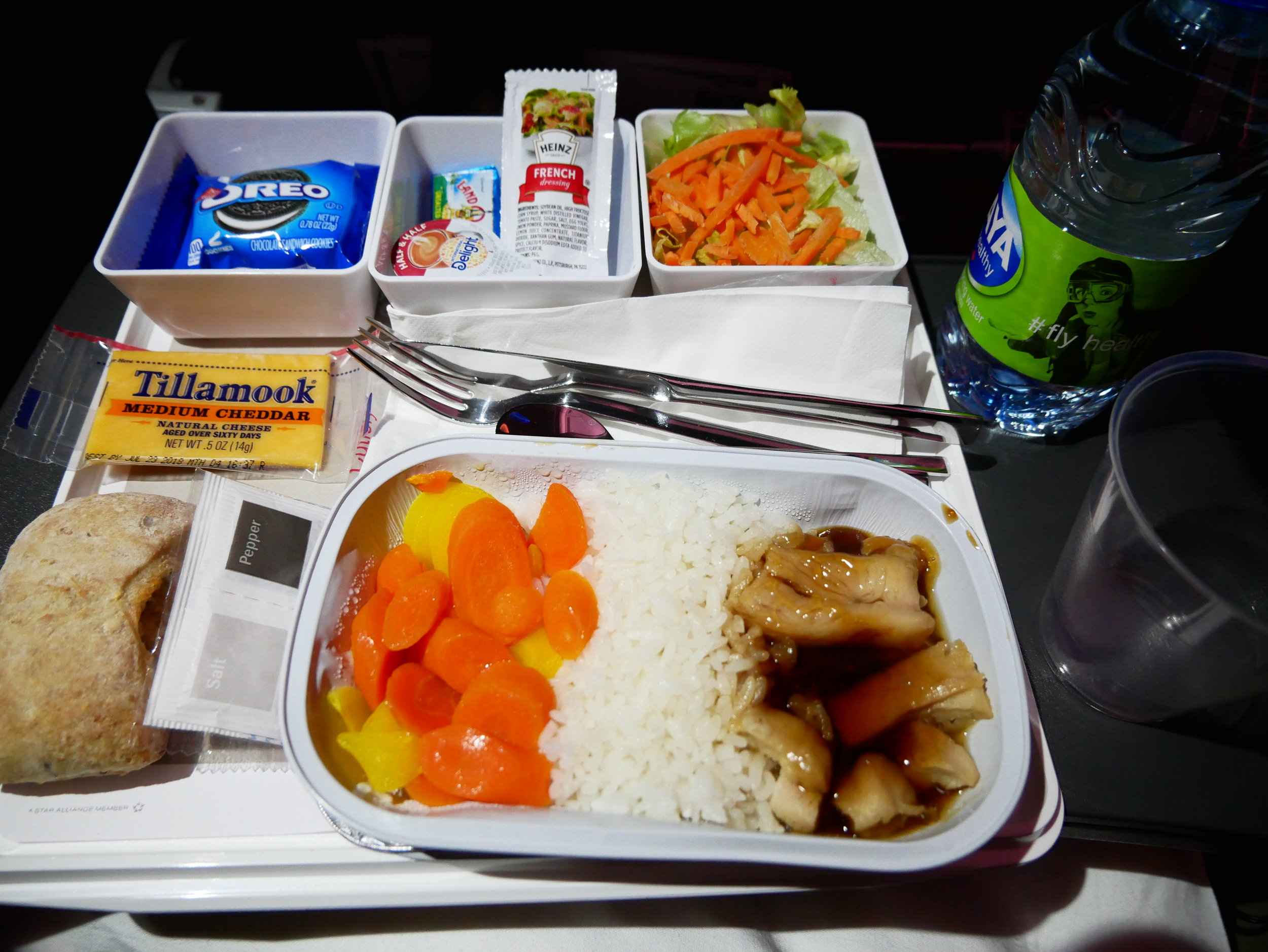 I wouldn't have imagined it, but I do think United Economy catering is superior.
