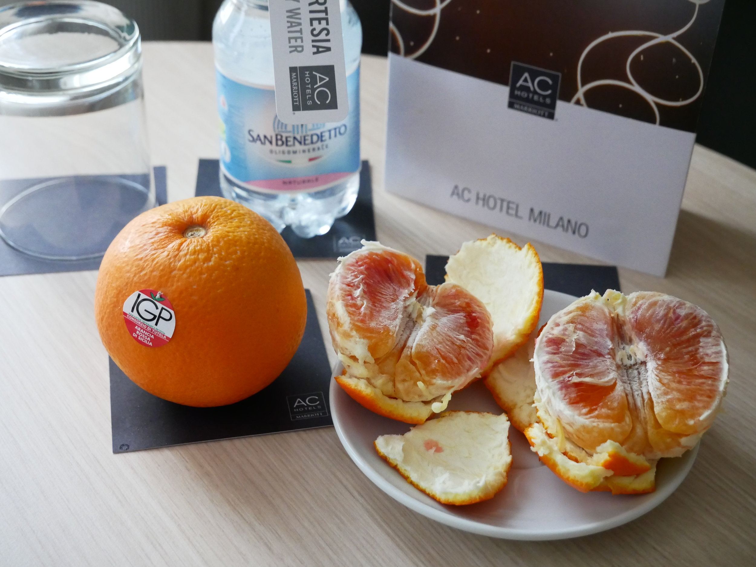 AC Hotel Milano welcome amenity