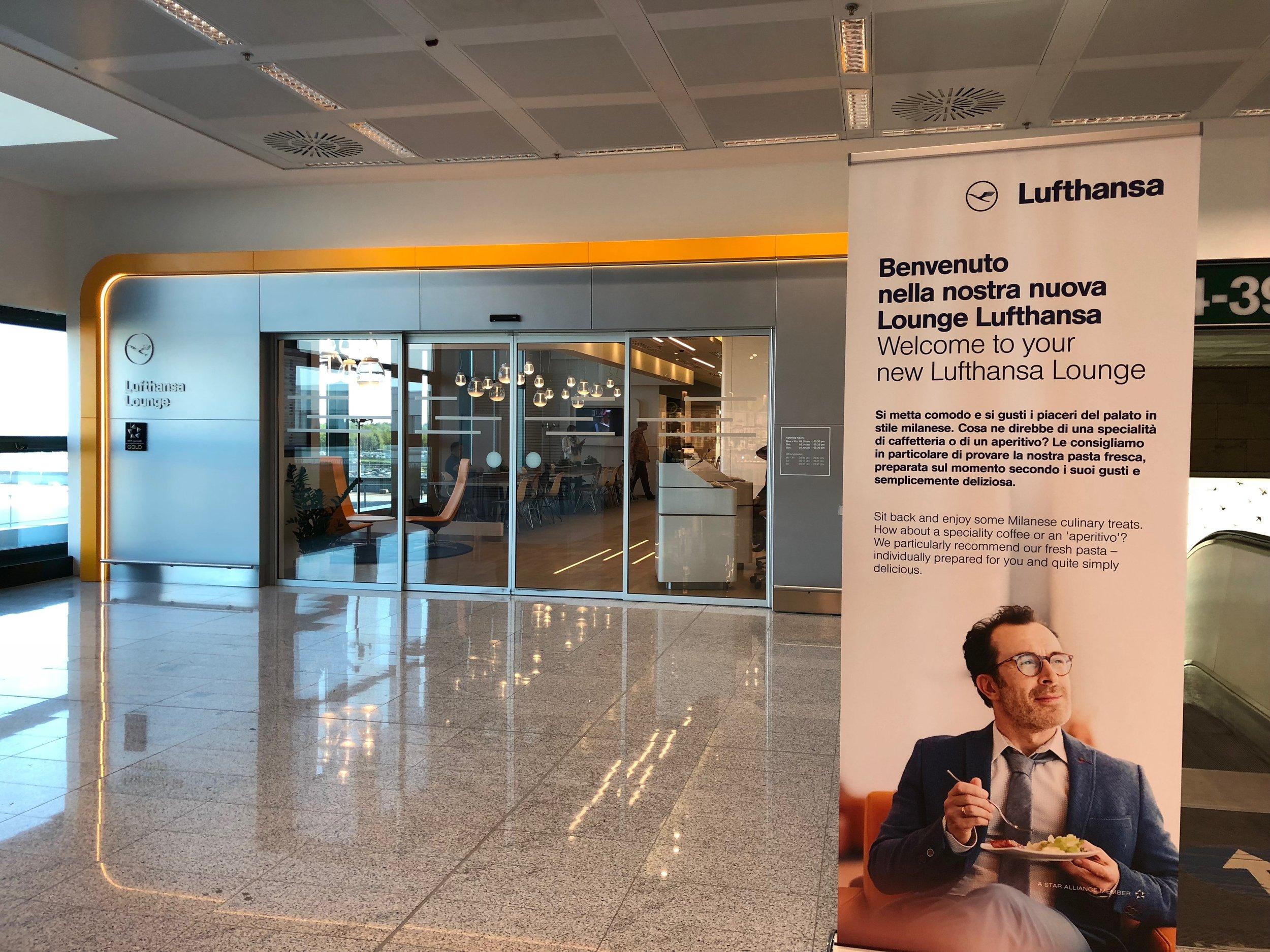 Milan Lufthansa Lounge exterior