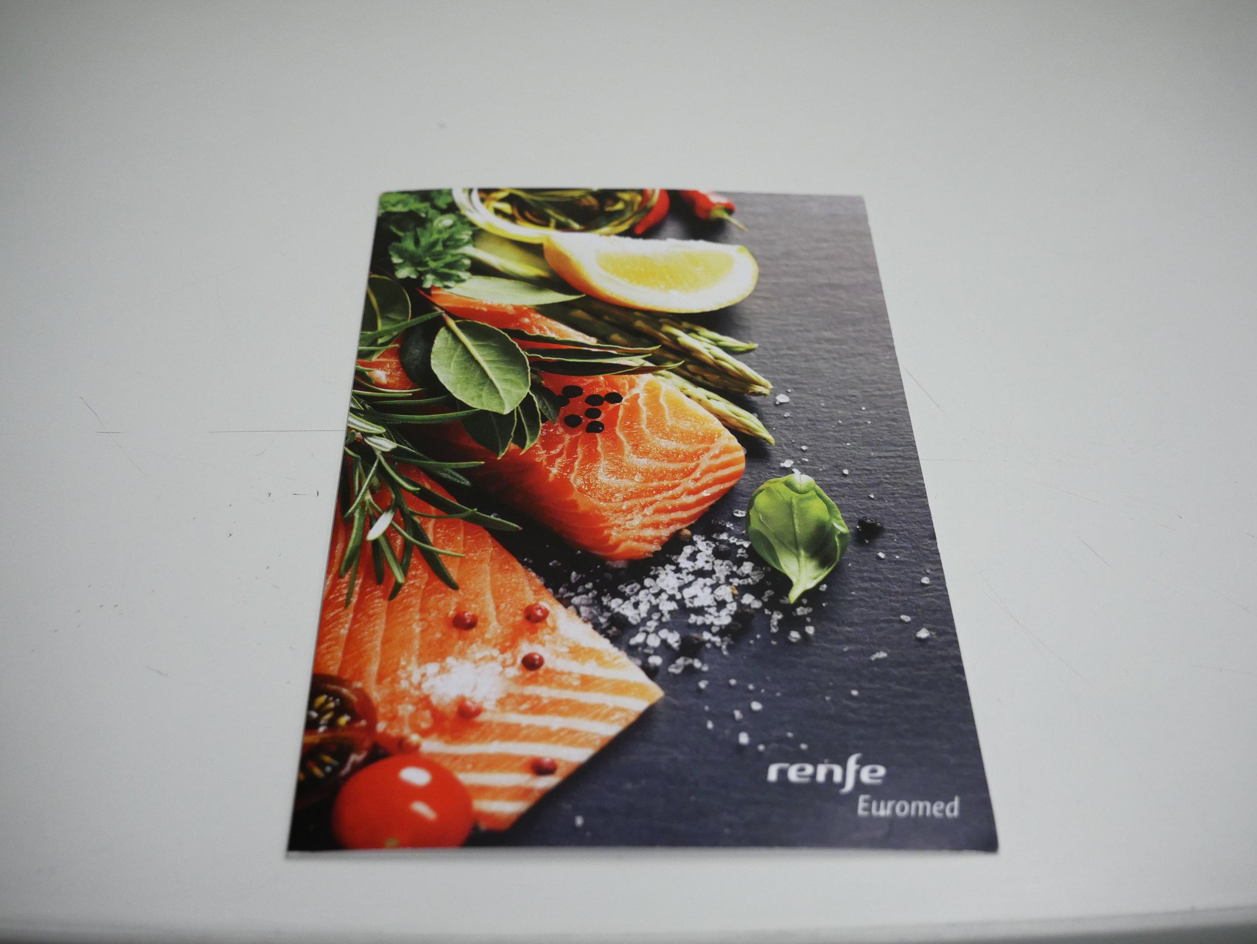 Euromed Preferente menu cover