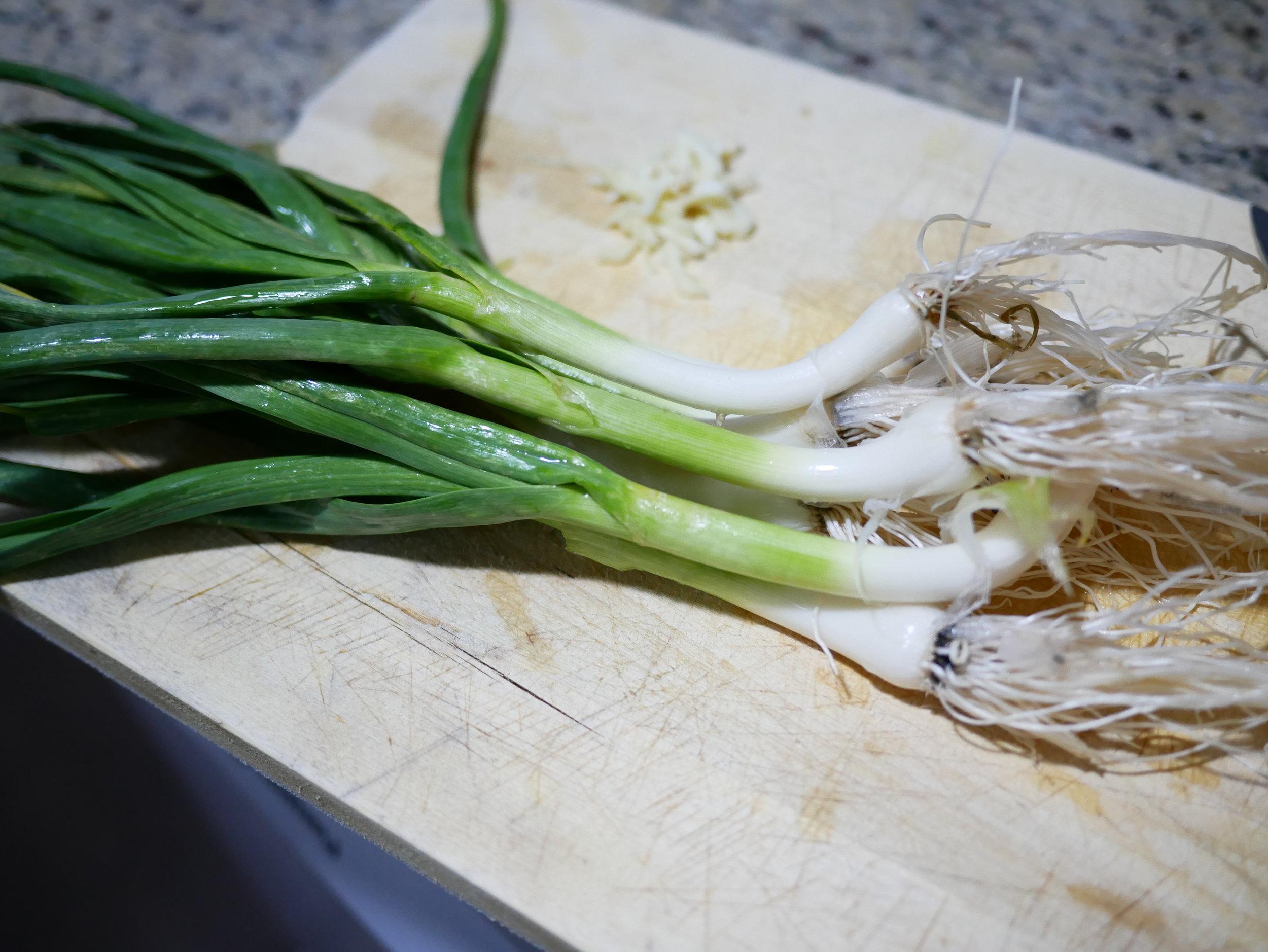 Green garlic whole