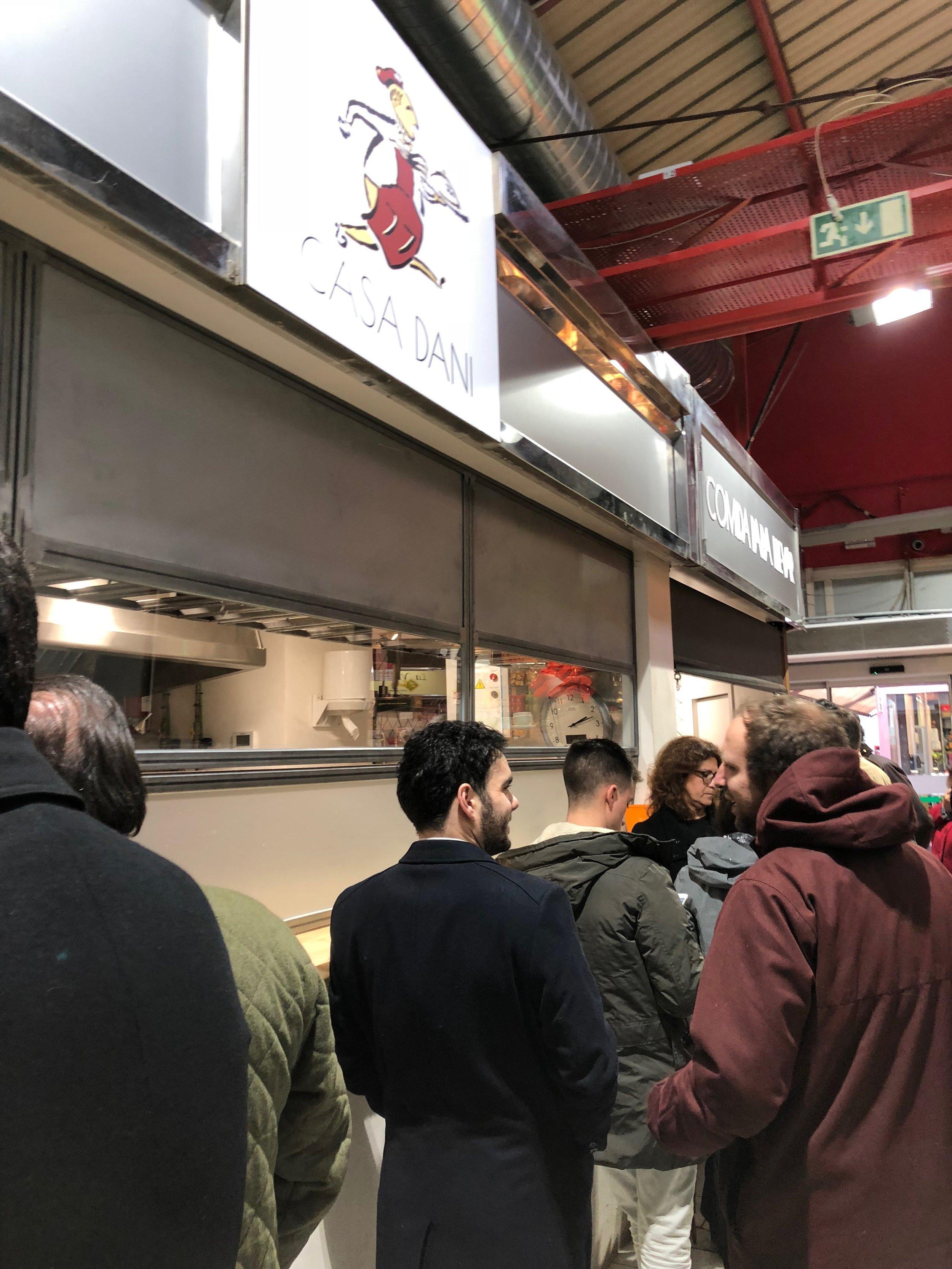 Casa Dani waiting in line