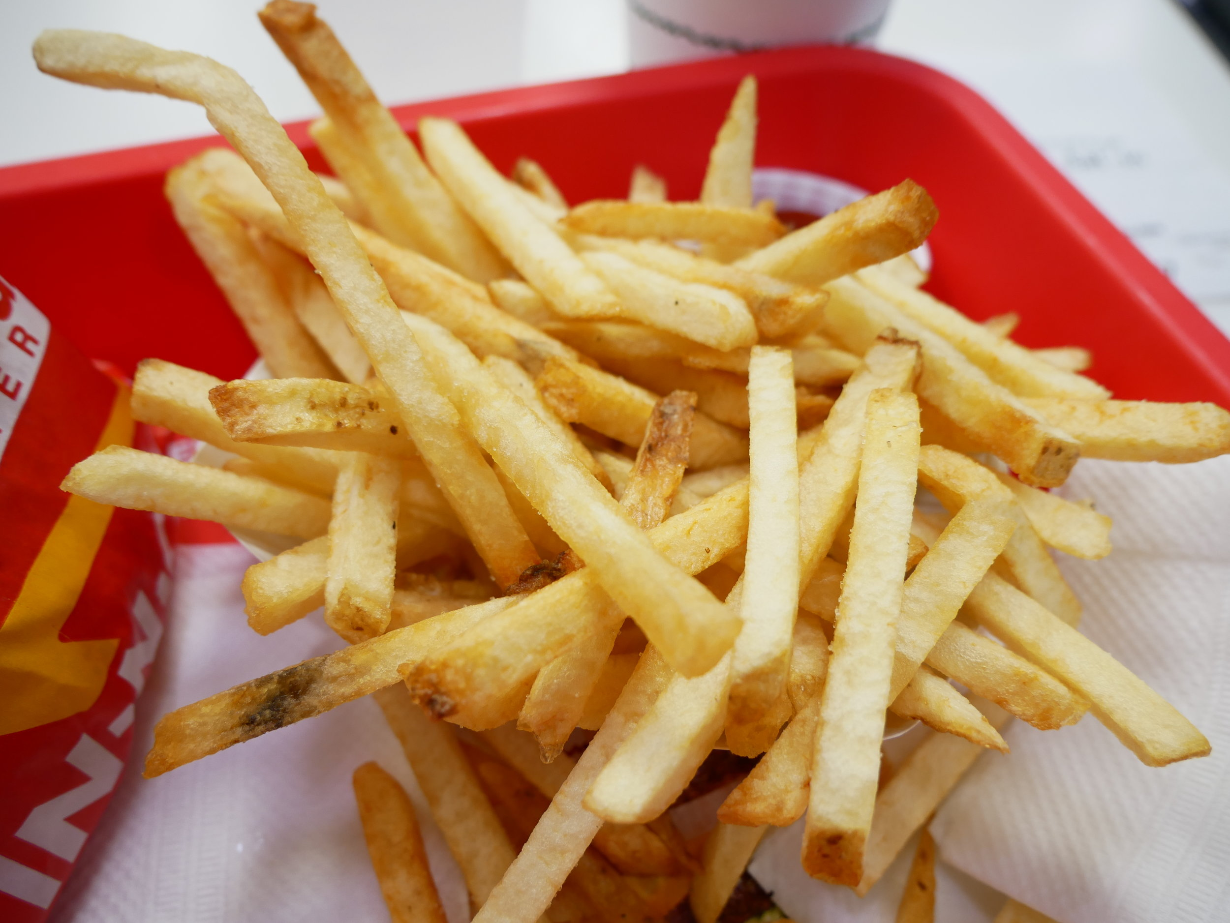In-N-Out french fries well done