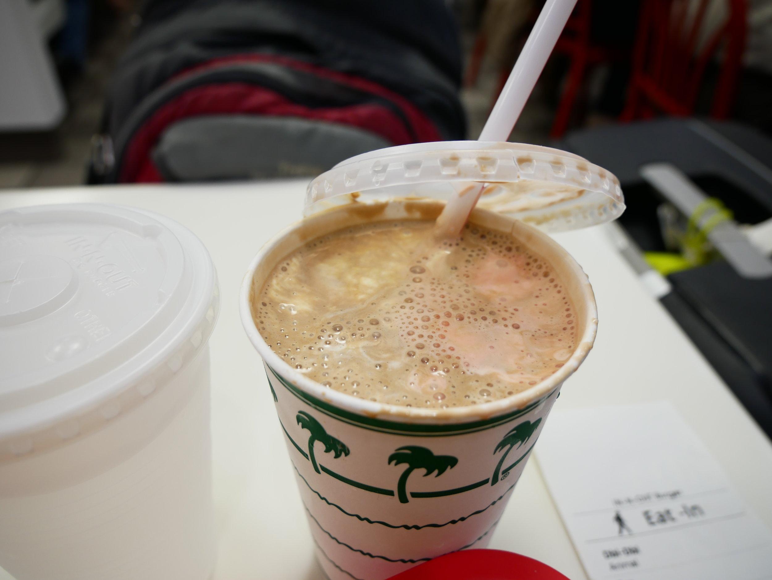 In-N-Out Neapolitan milkshake
