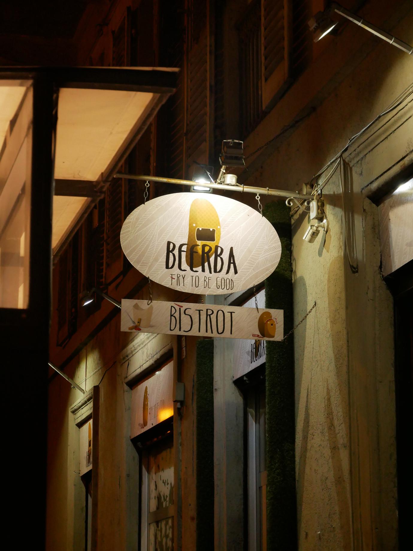 Beerba sign
