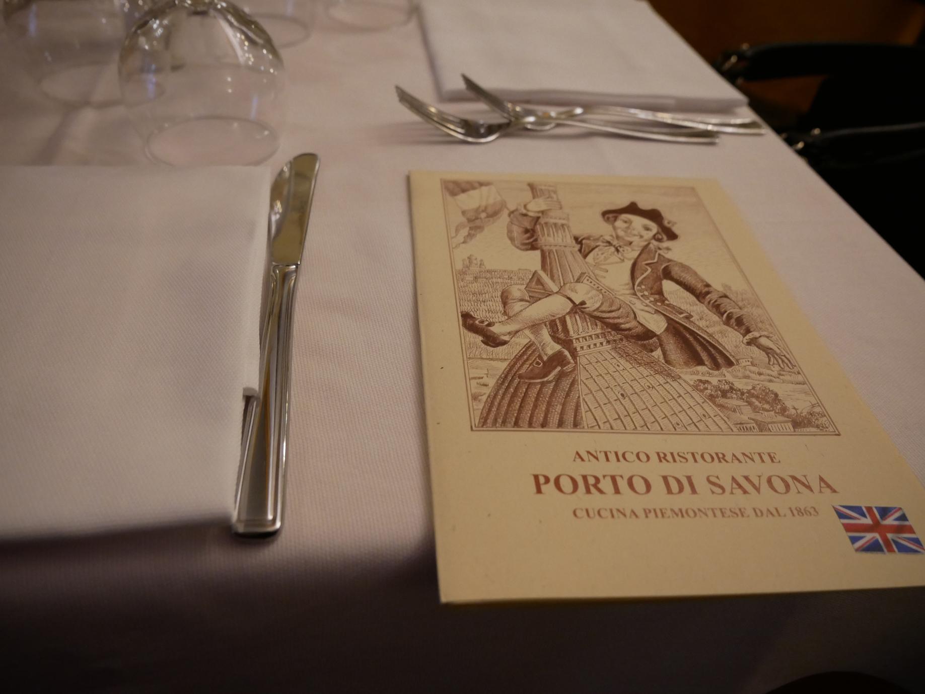 Porto di Savona menu