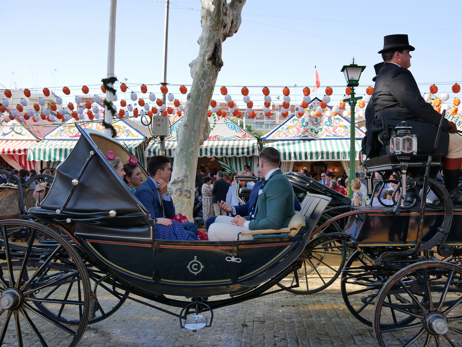 The fairgrounds themselves are filled with carriages. I thought it was great that this is really a living tradition - young people take part just as enthusiastically as older folk.