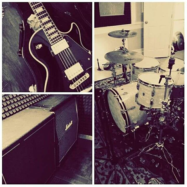 Started preproduction on some songs the other day. More to come. That's a 65' Ludwig by the way.