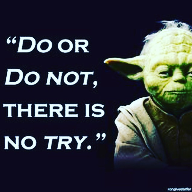 """We hear it all the time. """"I try to brush twice a day."""" When it comes to proper home care - trying doesn't cut it. Just ask Yoda."""
