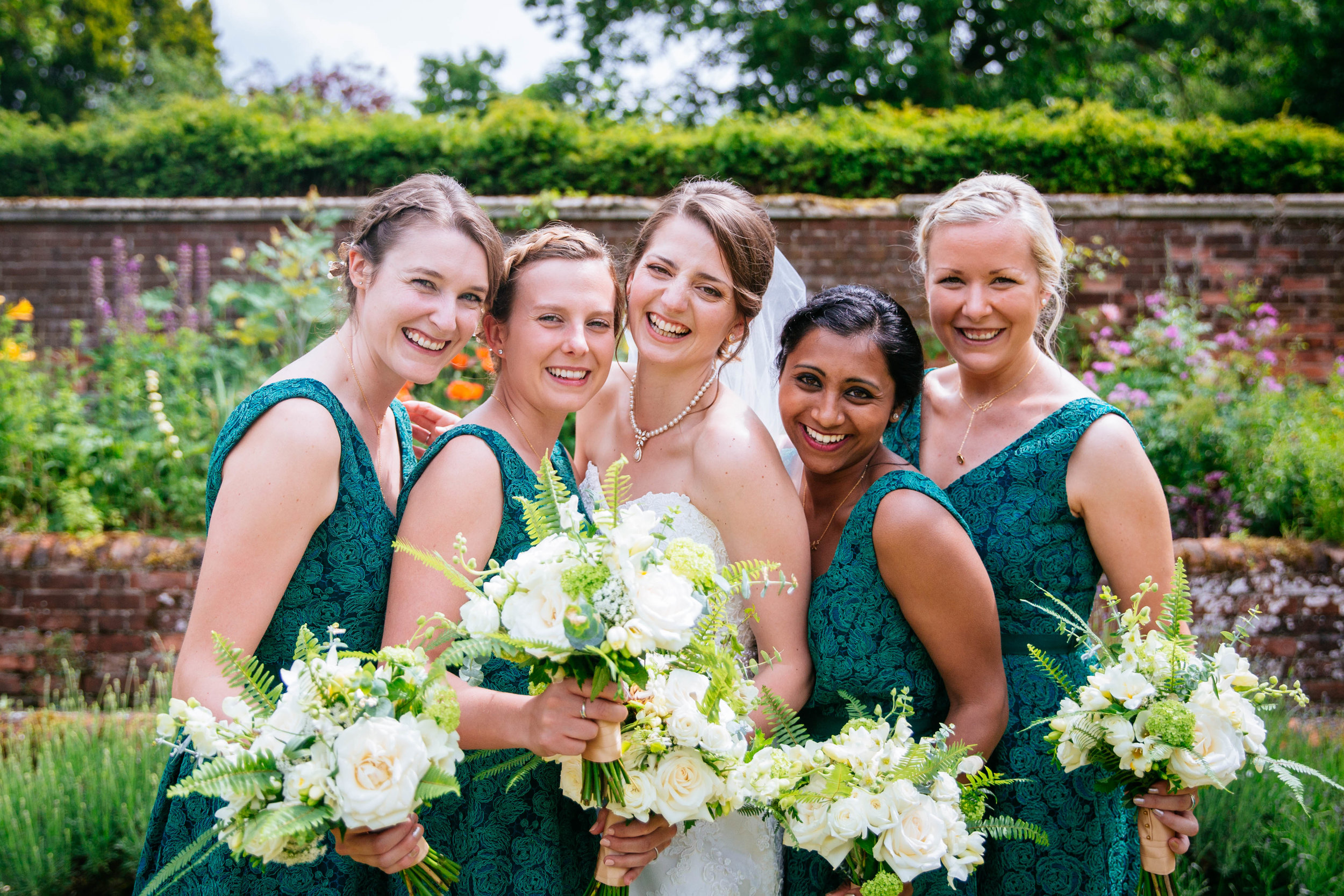 Fresh botanicals for Amy and her maids. Image by  Sarah Legge Photography