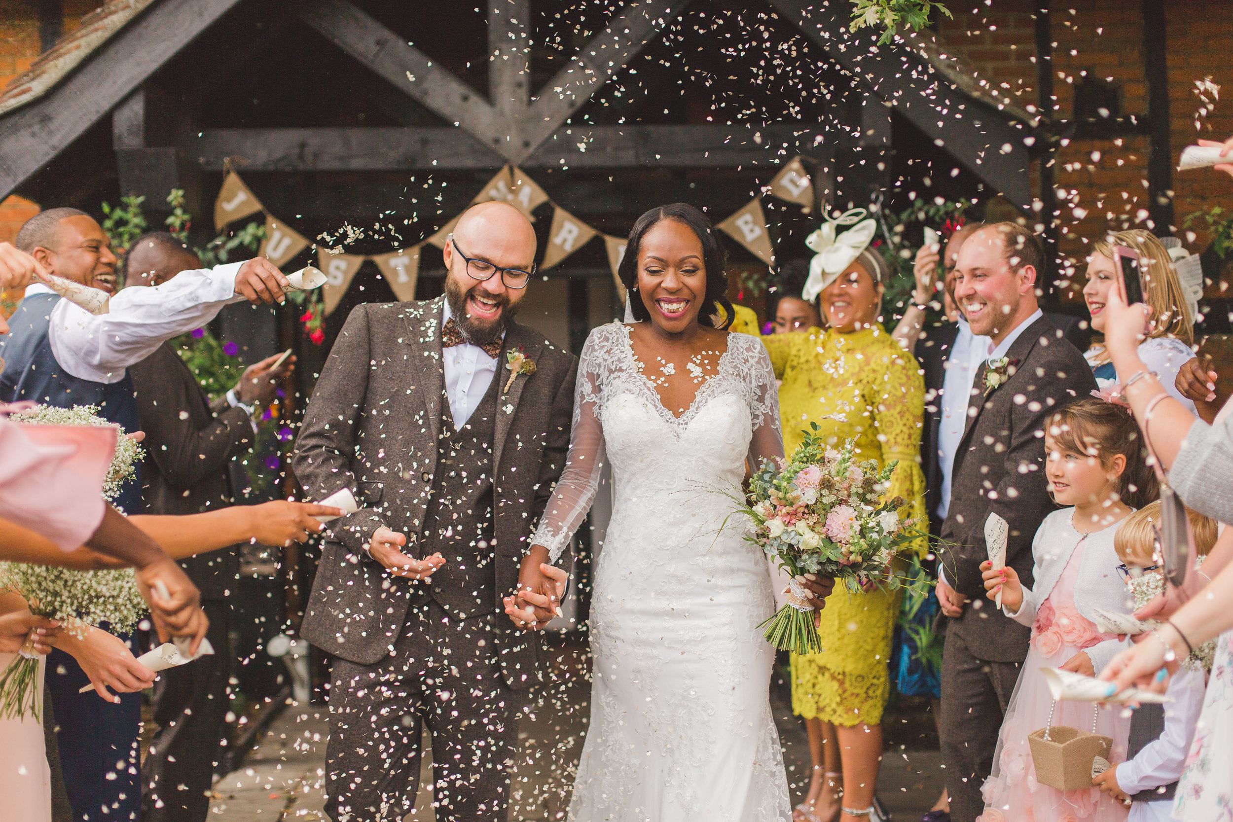 Rustic florals for Devina and Jon at the Barns Hotel, Bedford