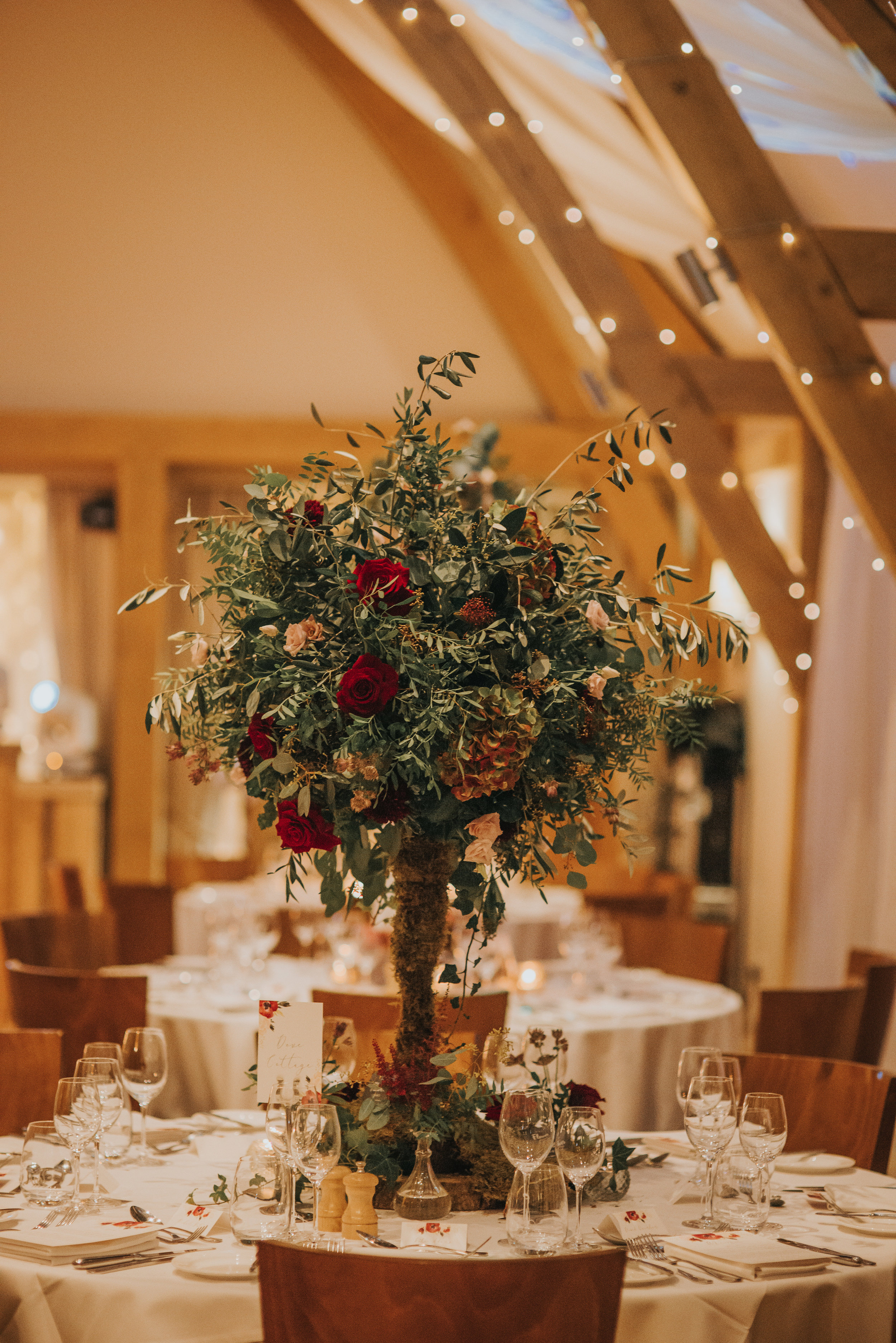 Table top tree wedding centrepiece