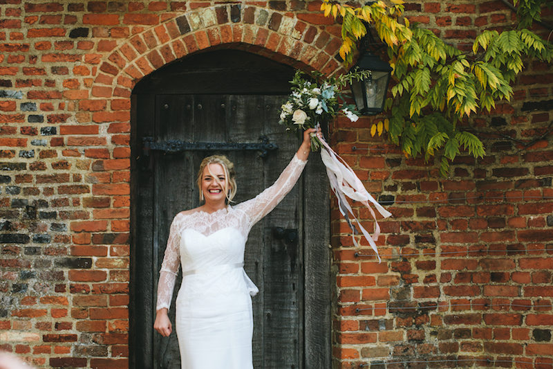 Green and white wedding flowers at Hatfield House by The Flower Story