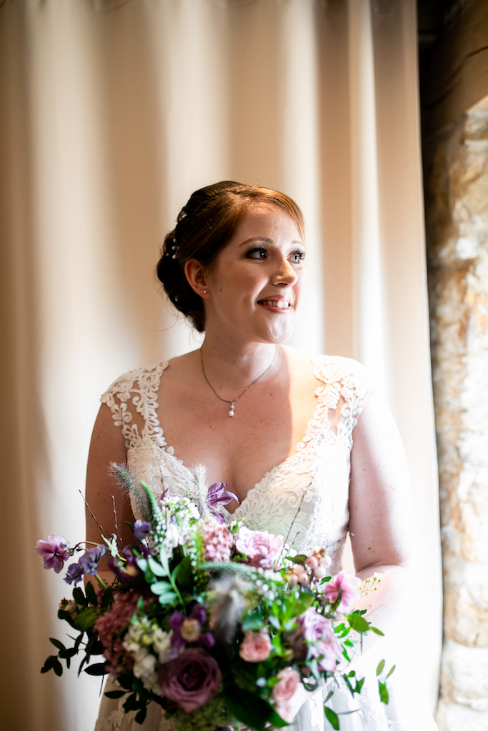 Summer pastel wedding bouquet by The Flower Story at Dodford Manor