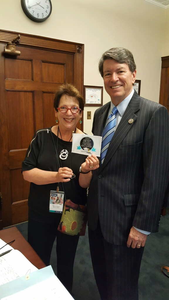 With Congressman John Faso, who accepted a Best Communities for Music Education award from the NAMM Foundation.