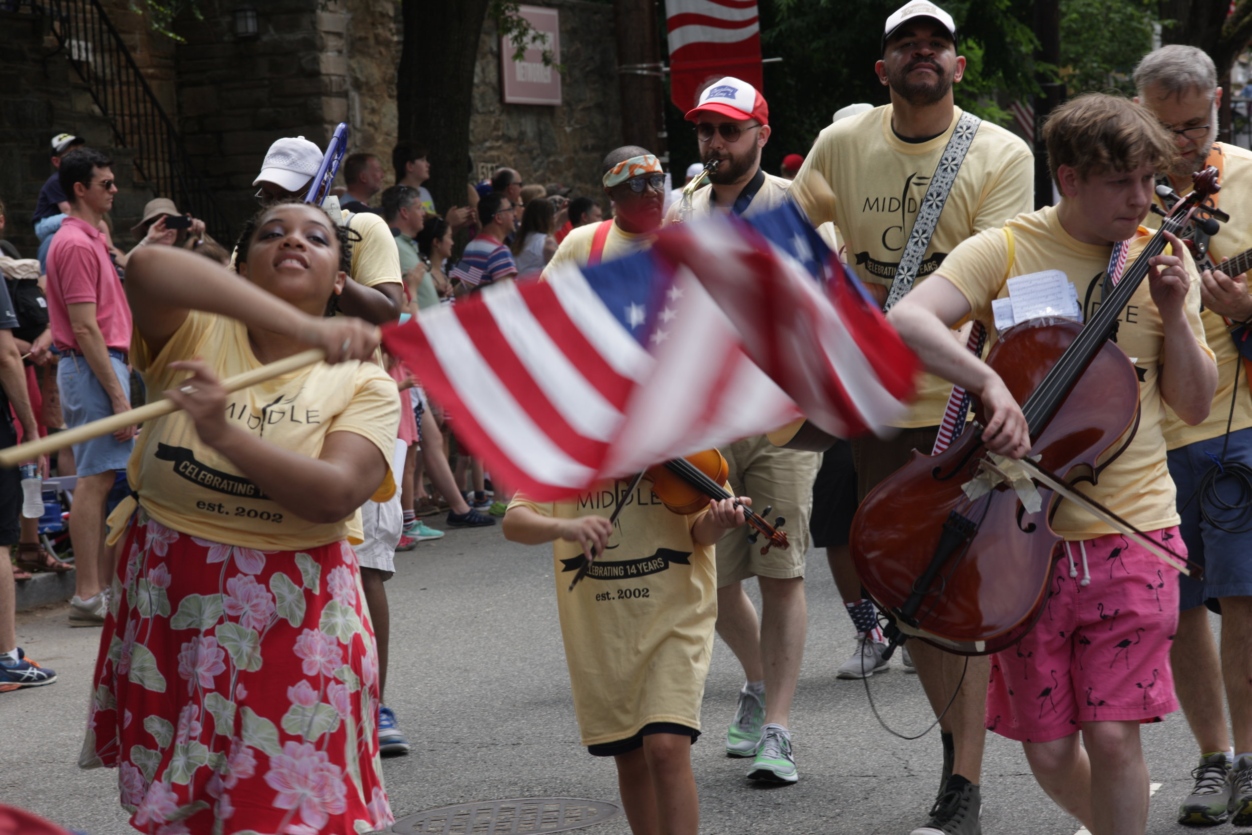 Teachers, staff, and students at Middle C will be marching in the Palisades 4th of July Parade! Always a fun time, we encourage anyone who wants to join in to stop by the store at 10 a.m. or meet us on Whitehaven Parkway, off Foxhall Rd. NW, which is where the parade starts. Even if you don't play an instrument, singing and cheering along is always welcome.   Details on the parade here .