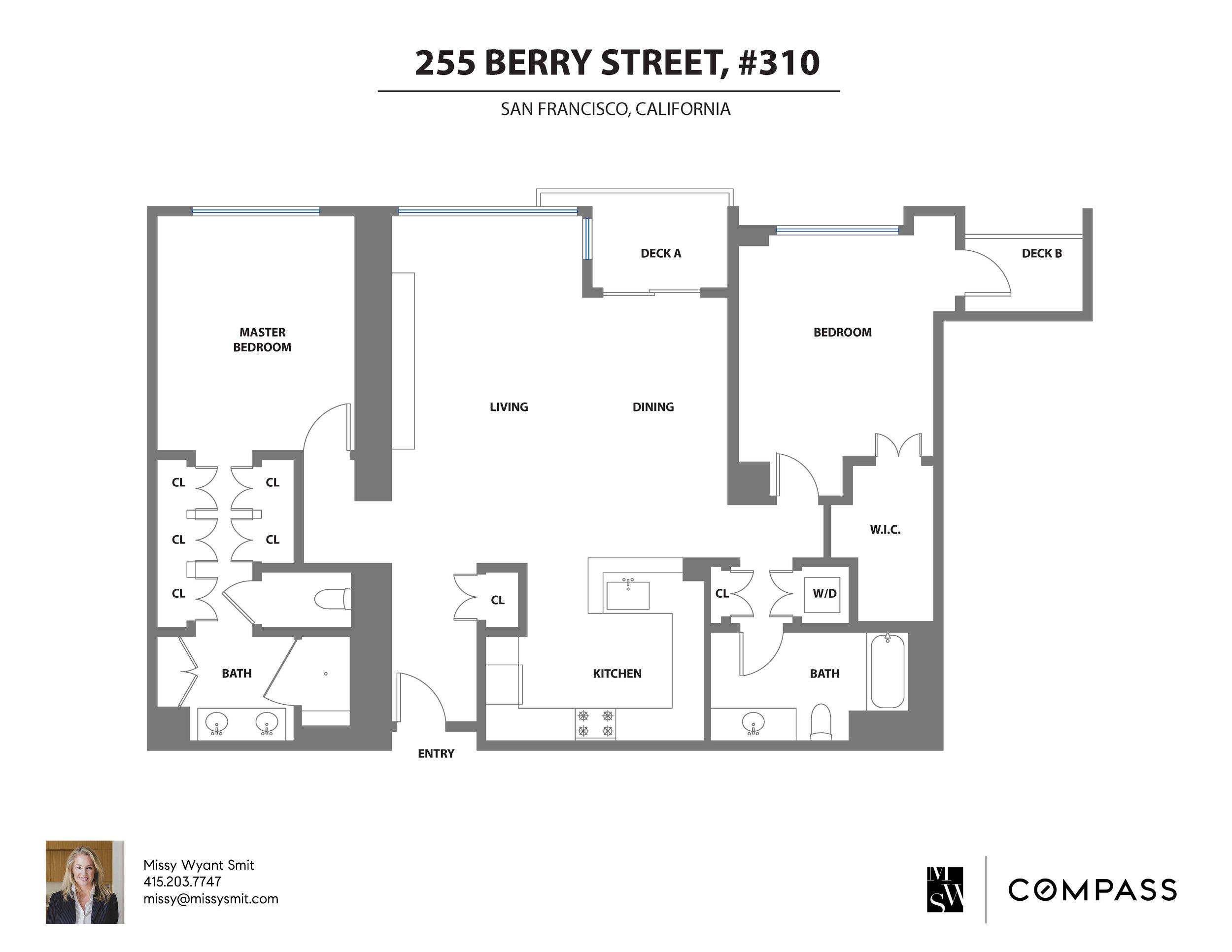 255 Berry #310 Floor Plan