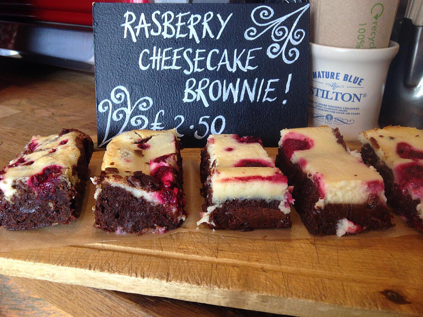 Raspberry cheesecake brownie