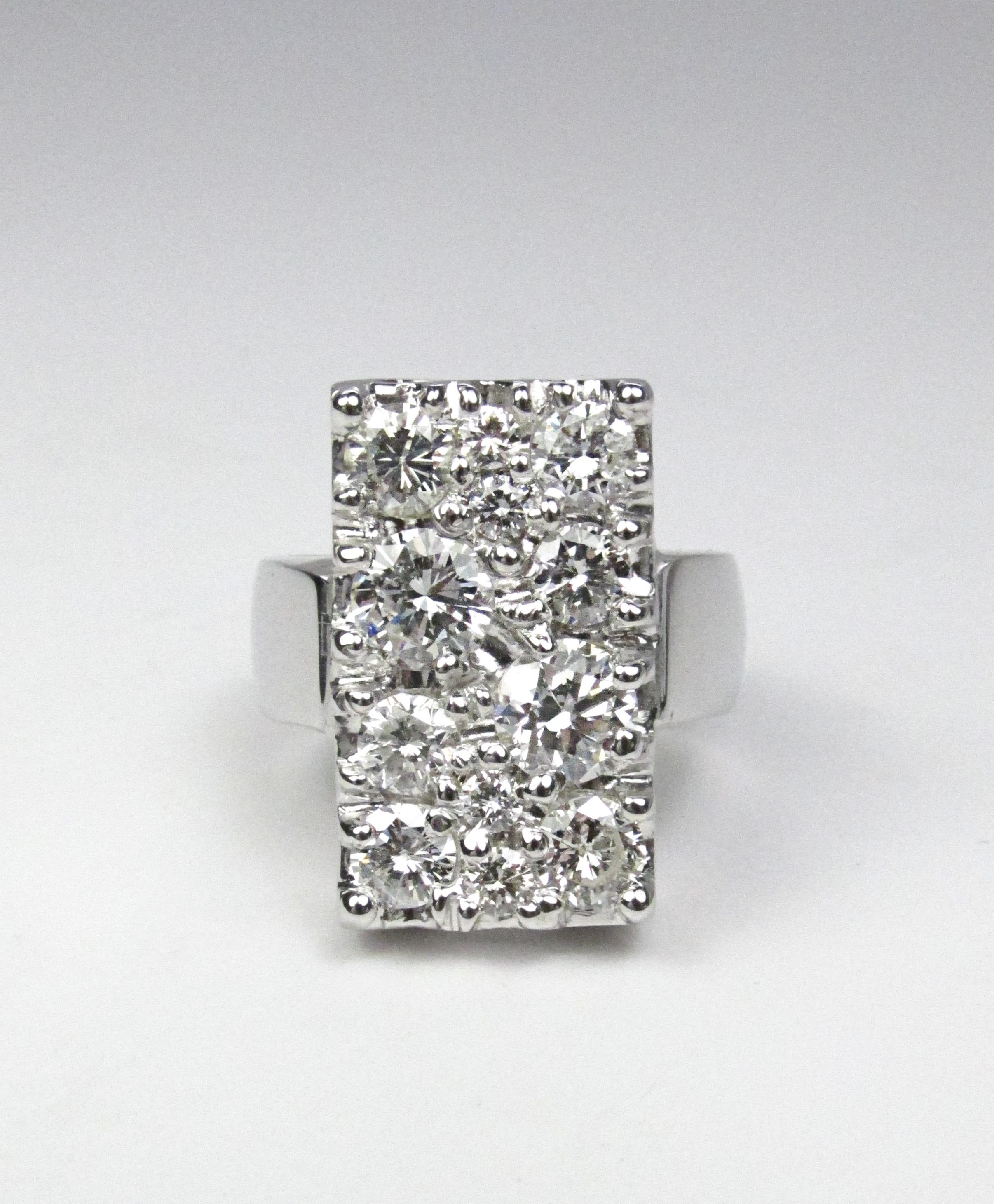 Rectangle Diamond Ring