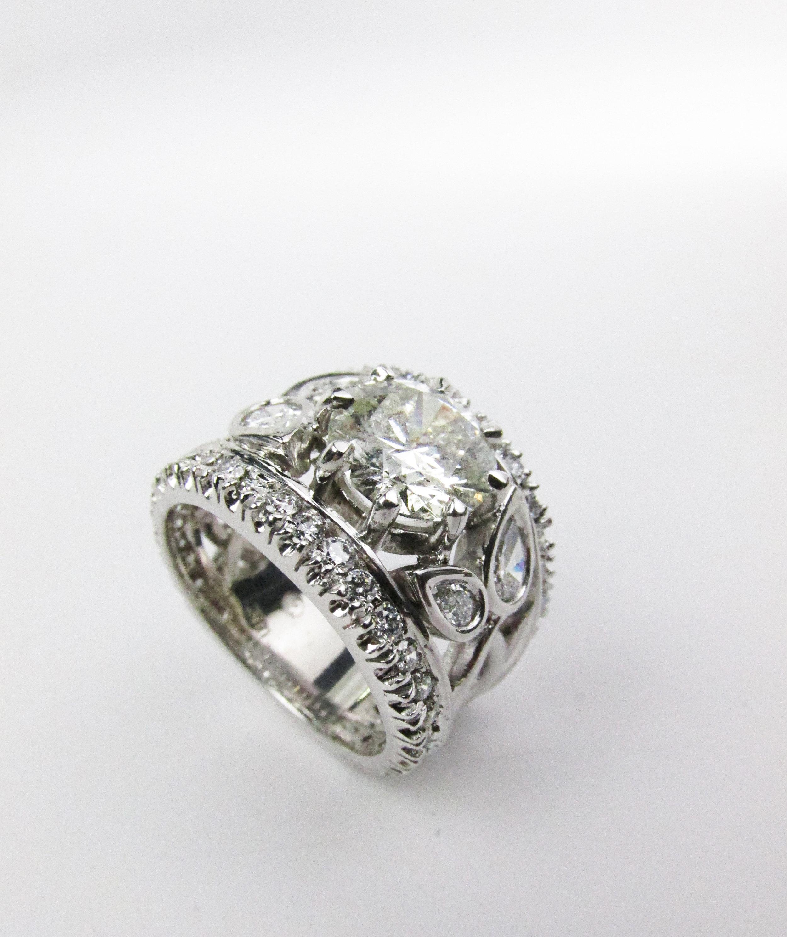 Organic Modern Engagement Ring