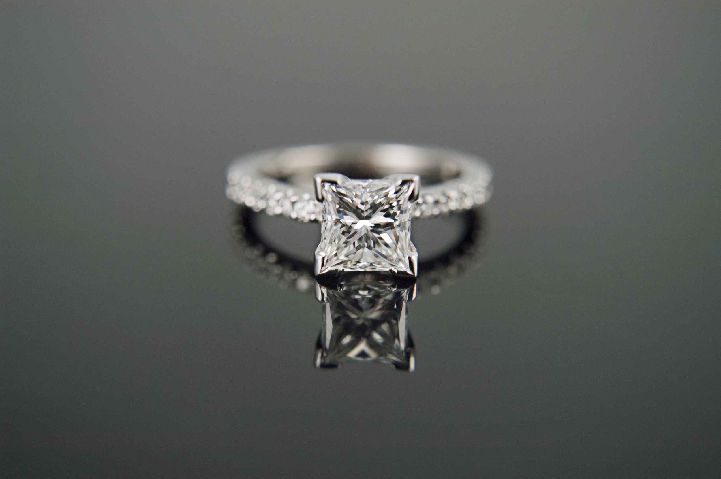 Classic Engagement Ring with Princess Diamond