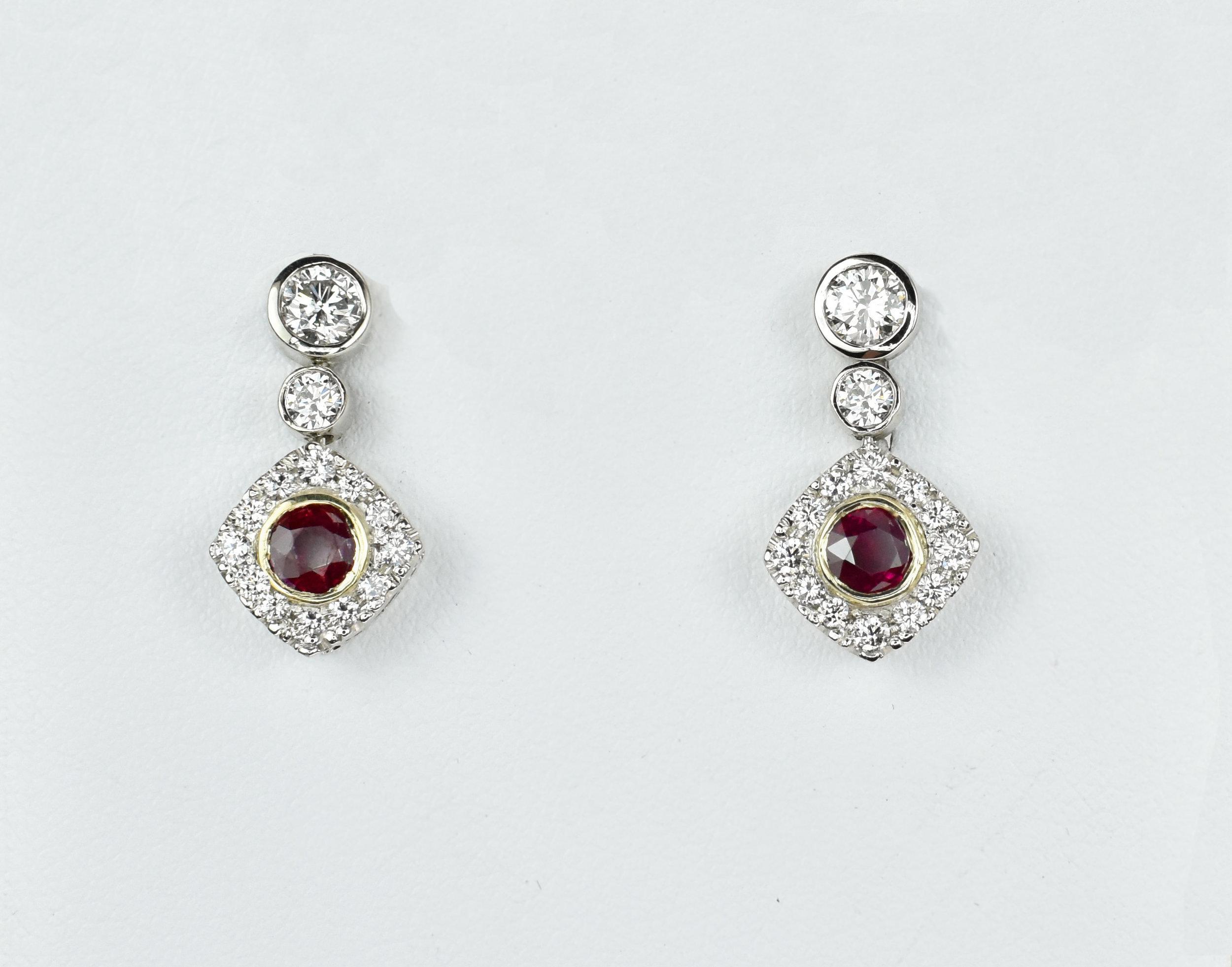 Ruby & Diamond Dangles