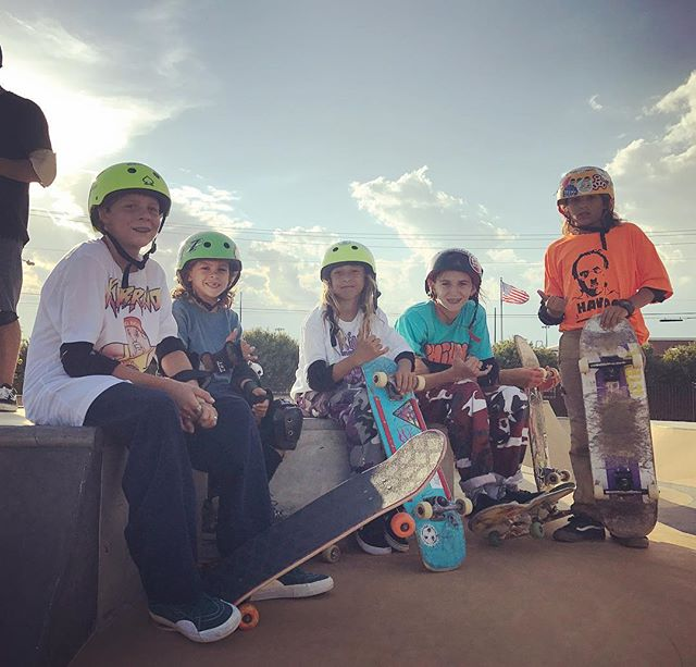 #goskateboardingday is going down at the @oceancityskatepark with all the boys. 🤘