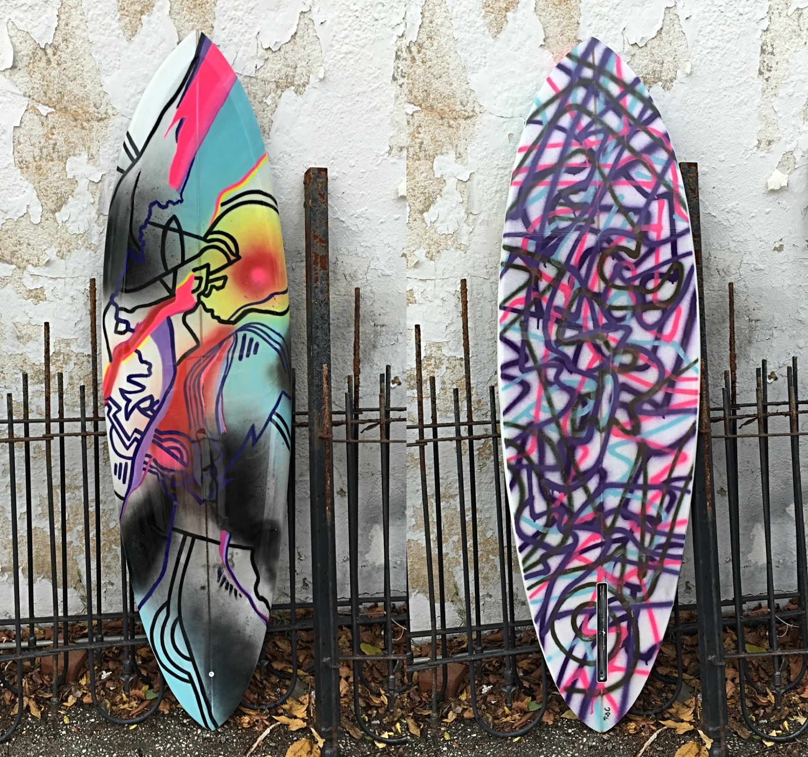 Collaboration with DCal Shapes for Juxtapoz Mag Show to Benefit Waves4Water at Mana Contemporary