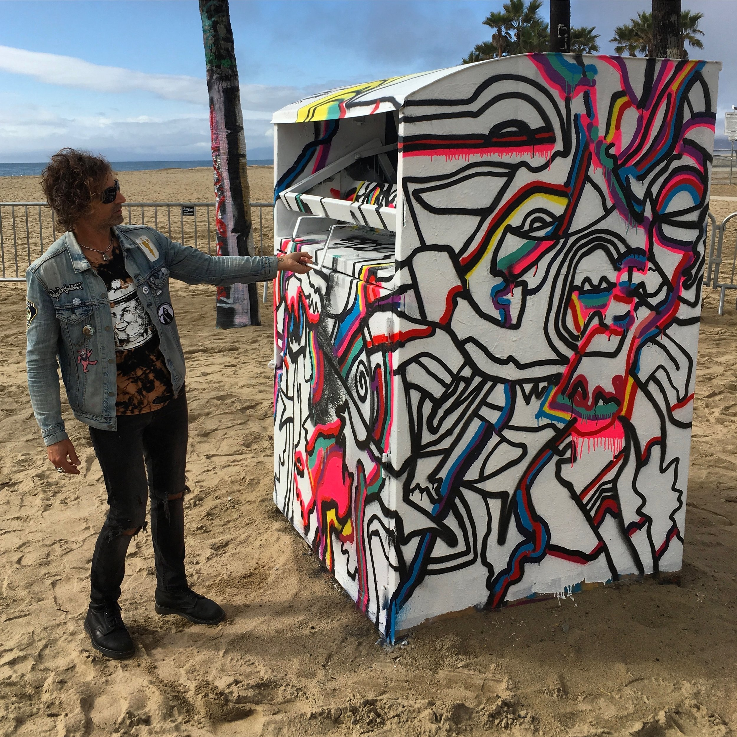 """Deposit Box"" Venice Art Walls. In Collaboration with Tommy Hilfiger Show"
