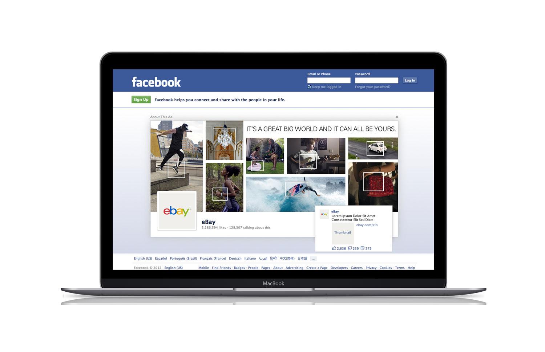 FACEBOOK LOGOUT AD | eBay